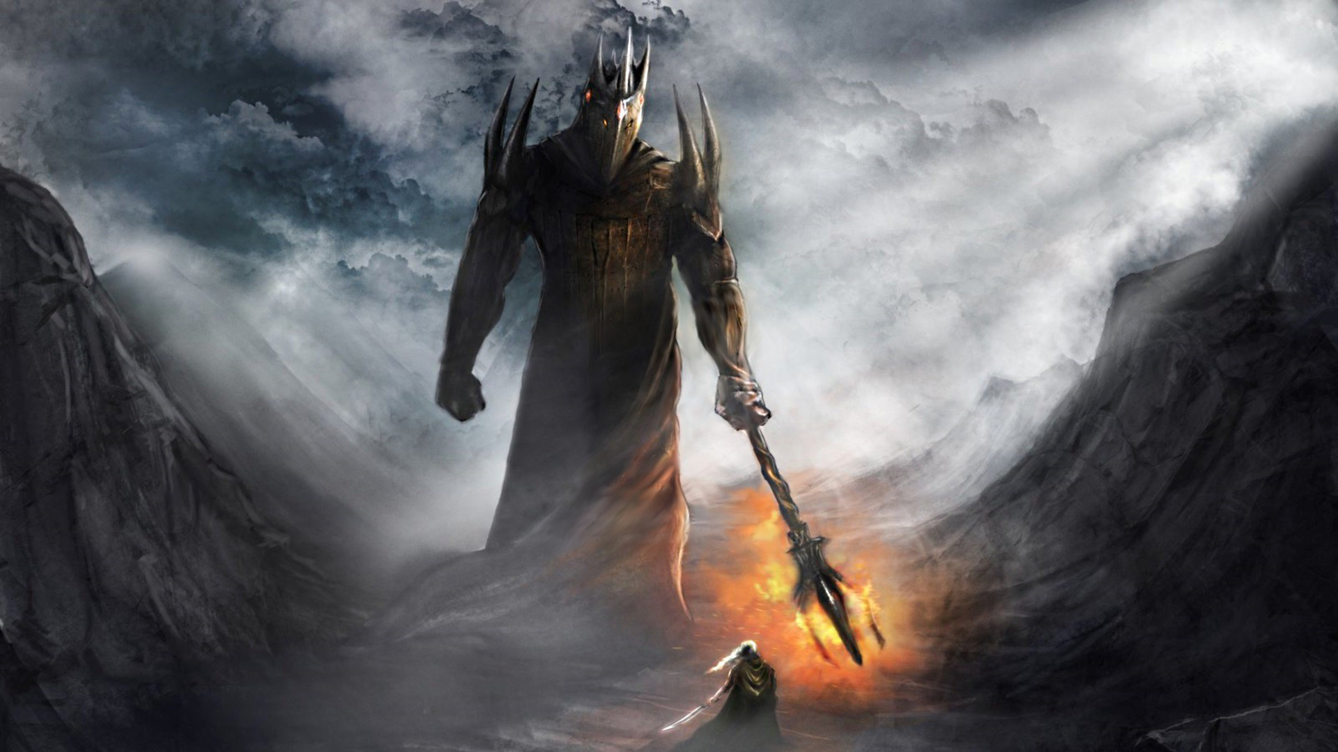 1920x1080 fantasy Art, The Lord Of The Rings, Morgoth Wallpapers HD / Desktop and  Mobile Backgrounds