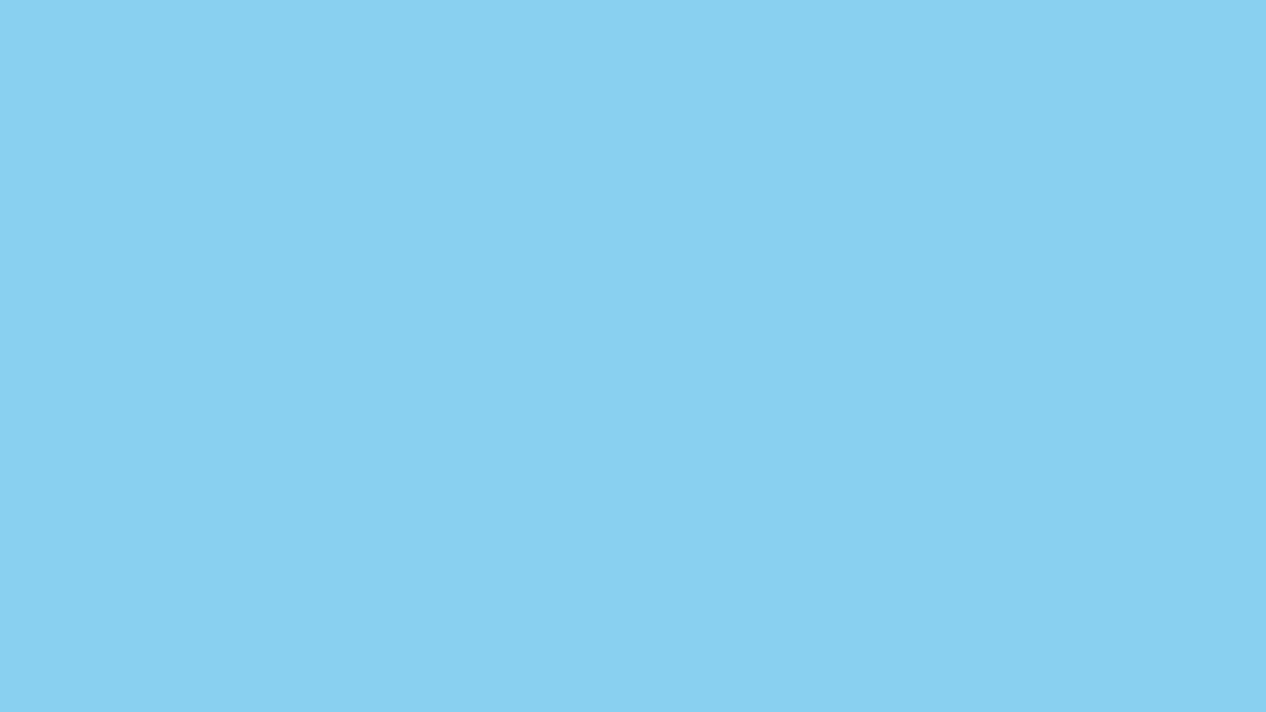 2560x1440  Baby Blue Solid Color Background