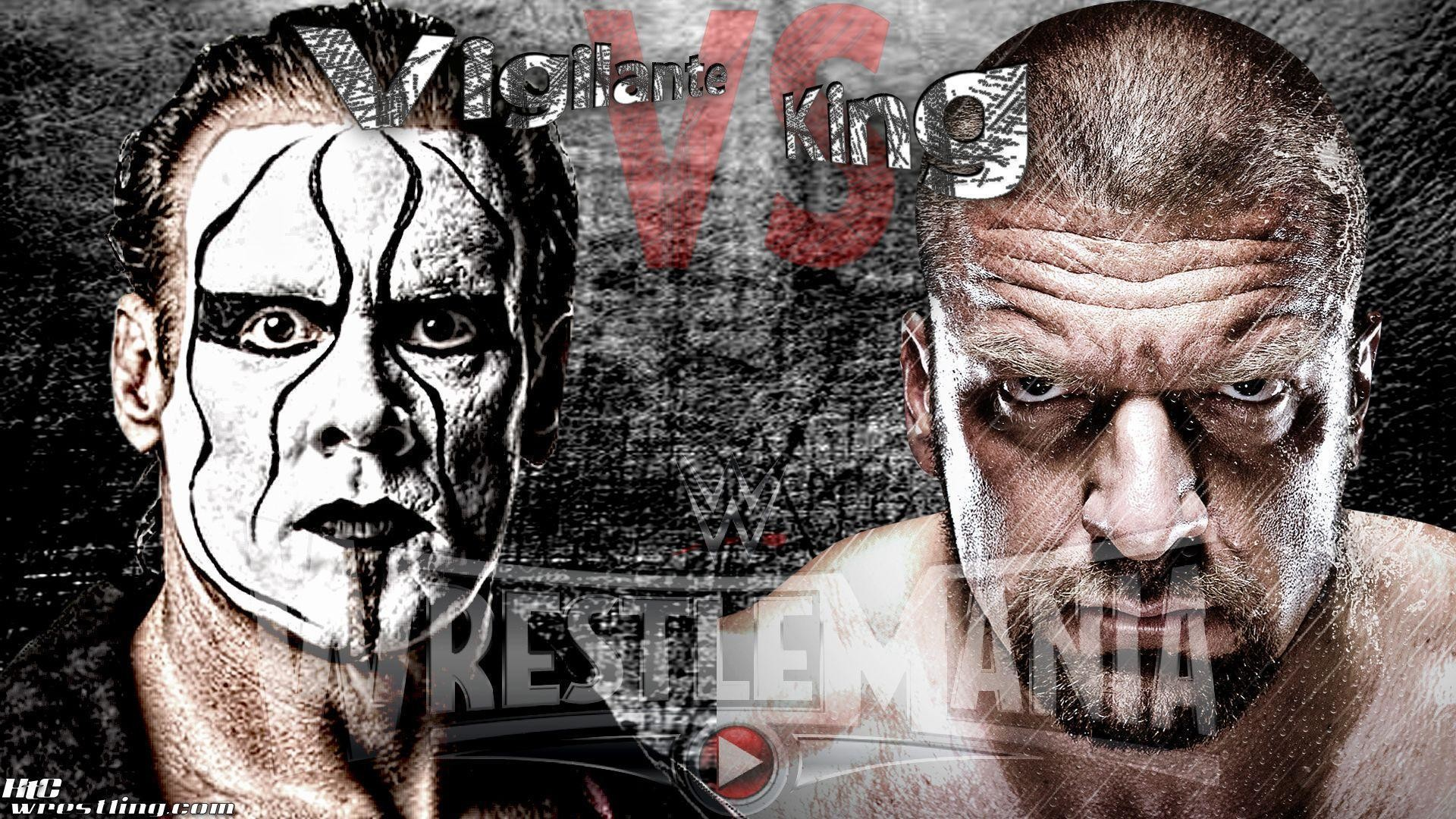"1920x1080 WrestleMania Wallpaper: ""Vigilante vs King"" – Sting vs HHH at ."