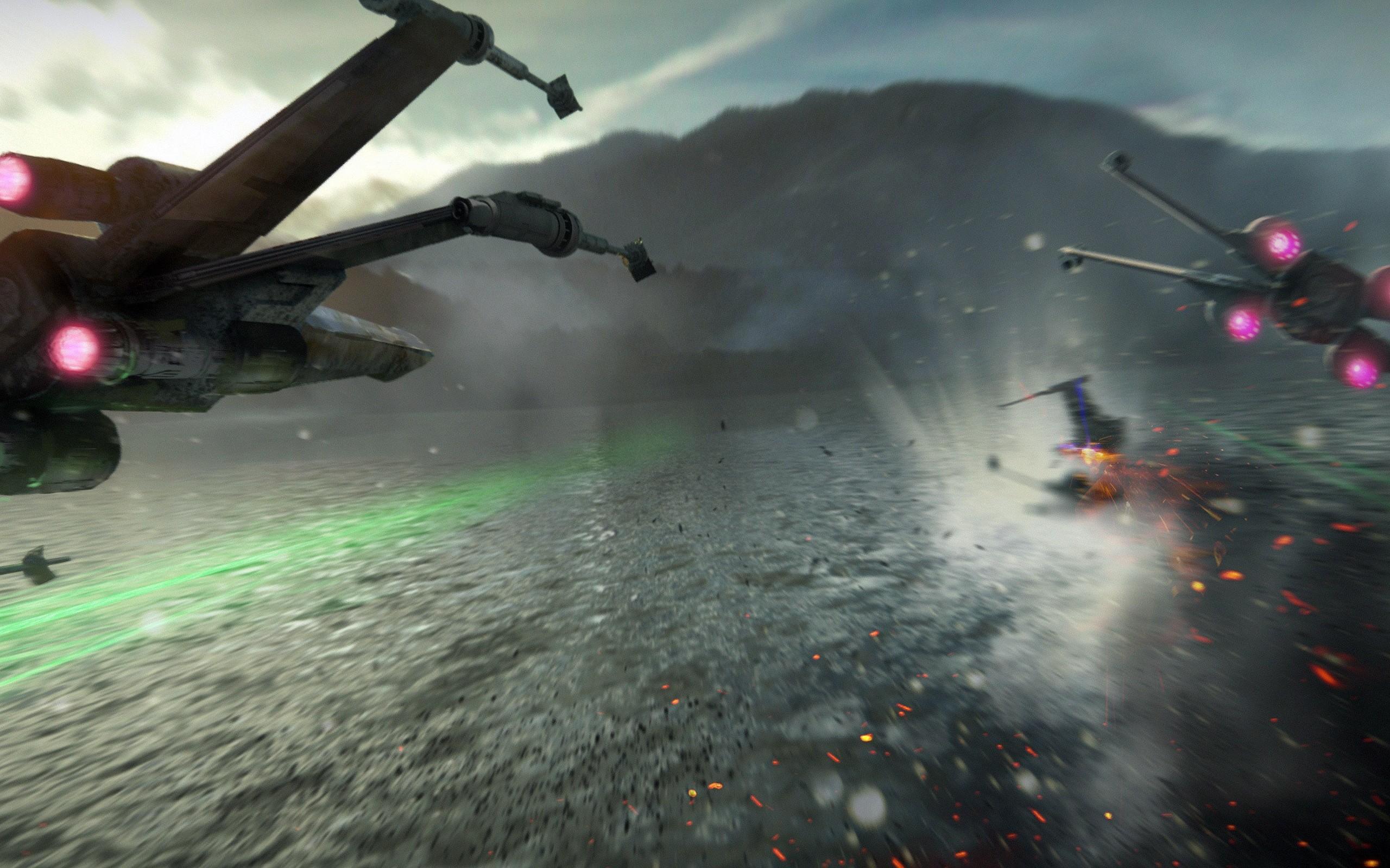 2560x1600 Star Wars The Force Awakens X Wing Fighter 1 HD Free Wallpaper