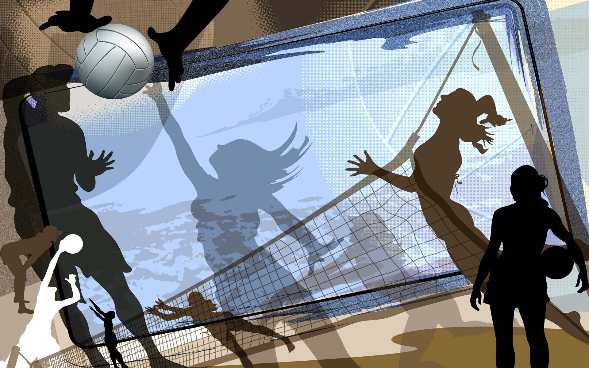 1920x1200 Sports Volleyball Abstract Wallpaper