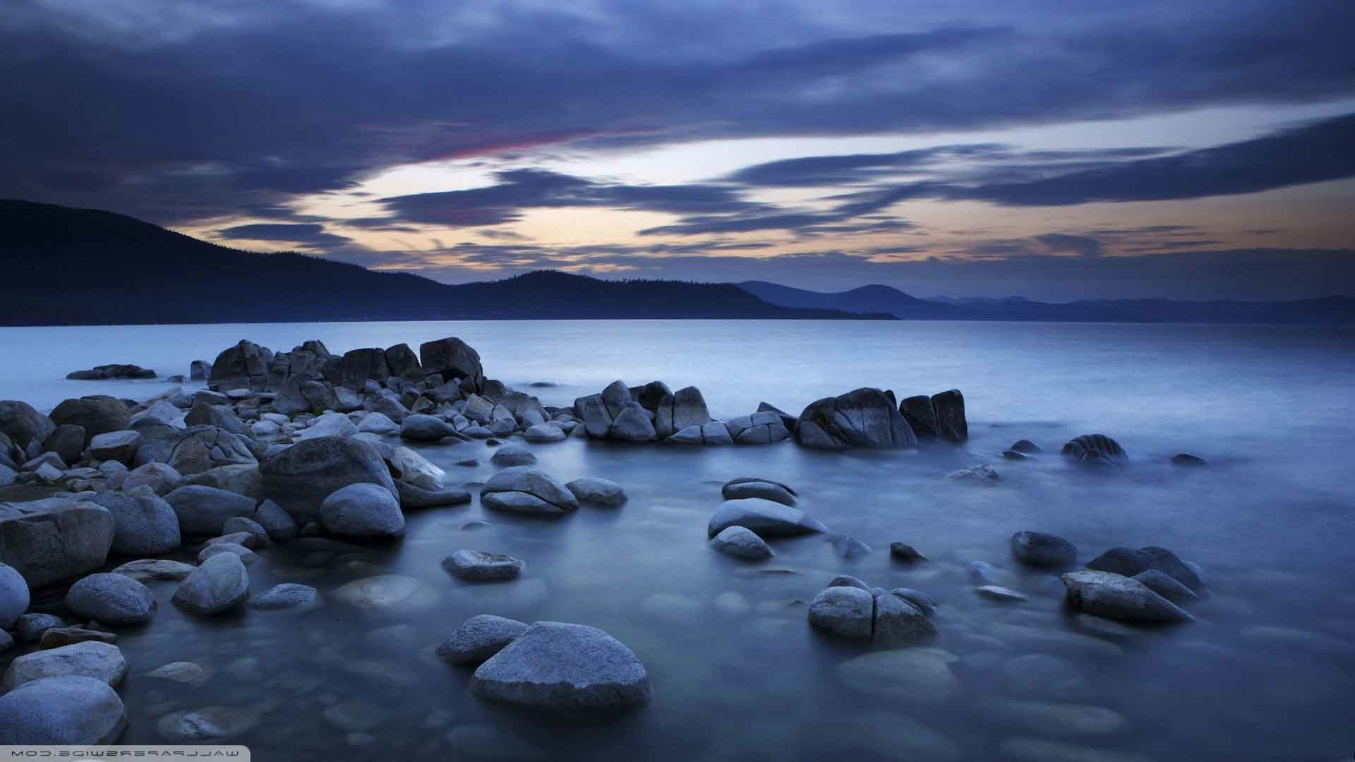 1920x1080 Sky Water Rocks Evening HD Nature Backgrounds For Mac
