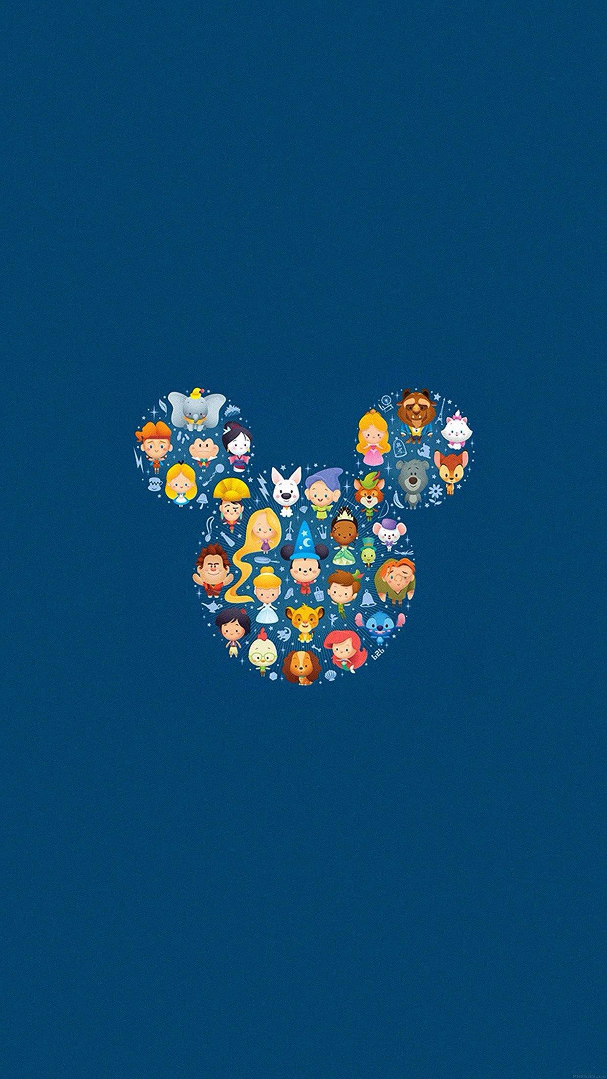 1242x2208 Disney Art Character Cute Illust