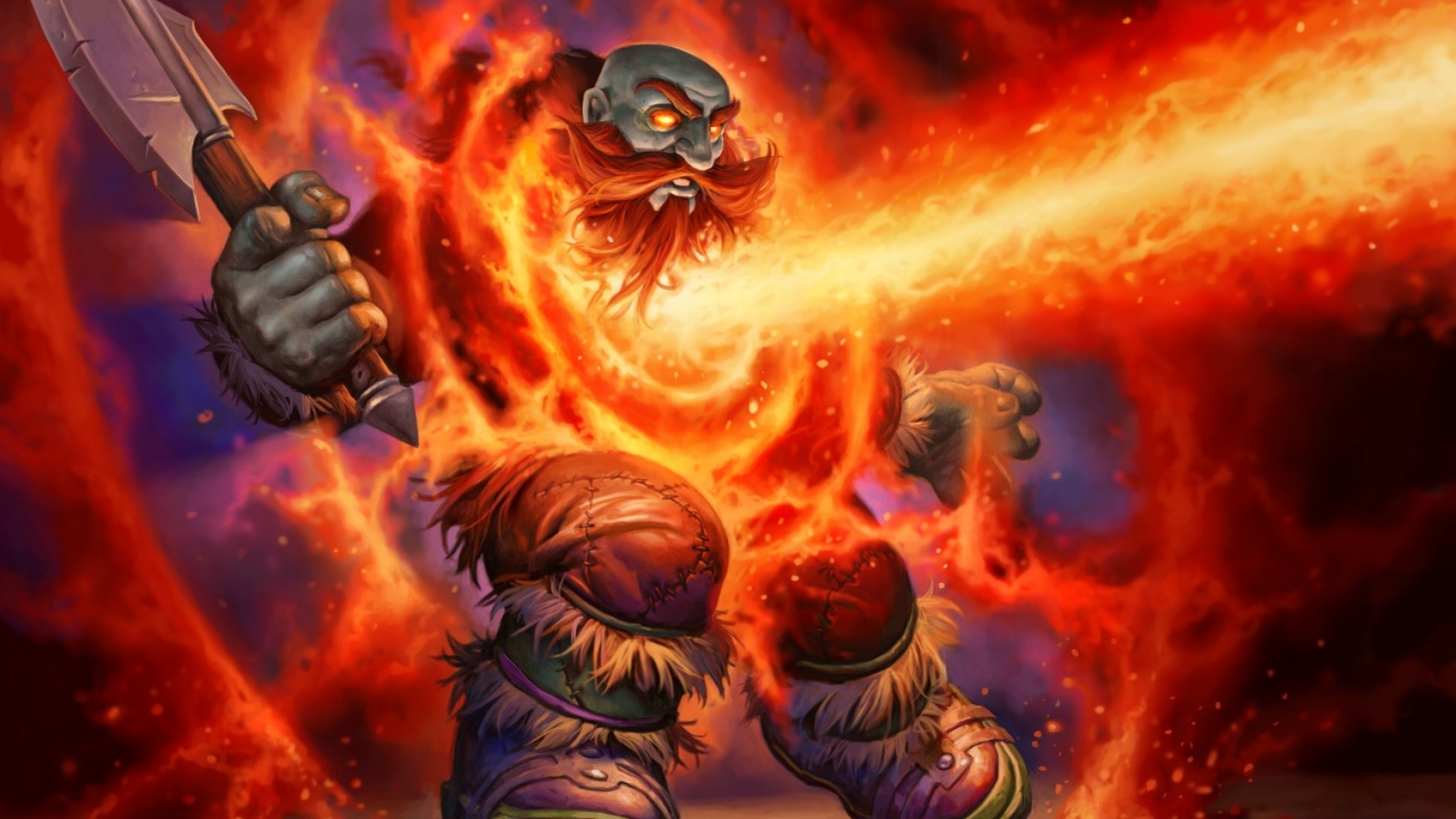 1920x1080 Preview wallpaper world of warcraft, hearthstone, blackrock mountain,  dwarf, ax
