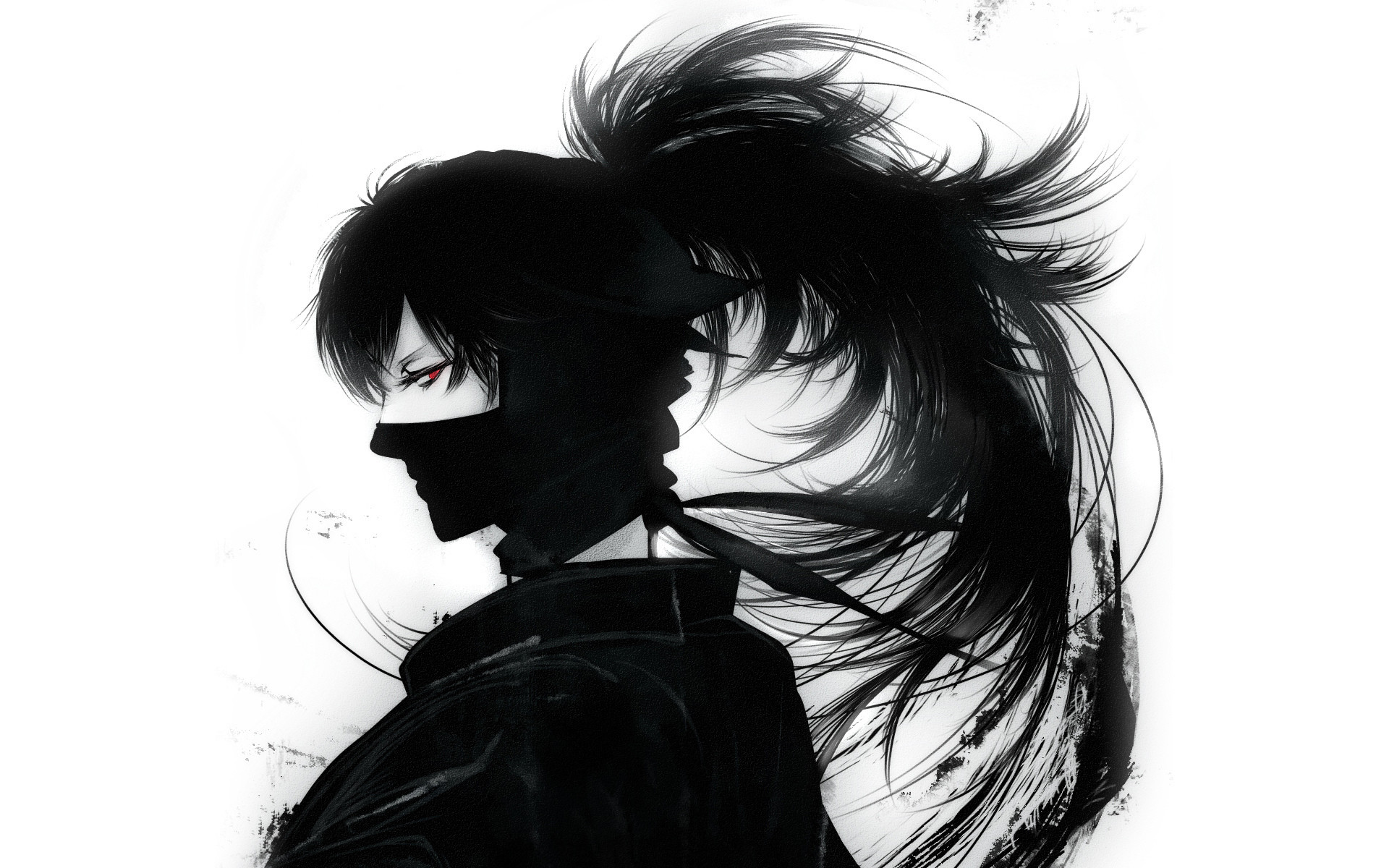 Anime cool guy wallpaper 58 images - Black and white anime wallpaper ...
