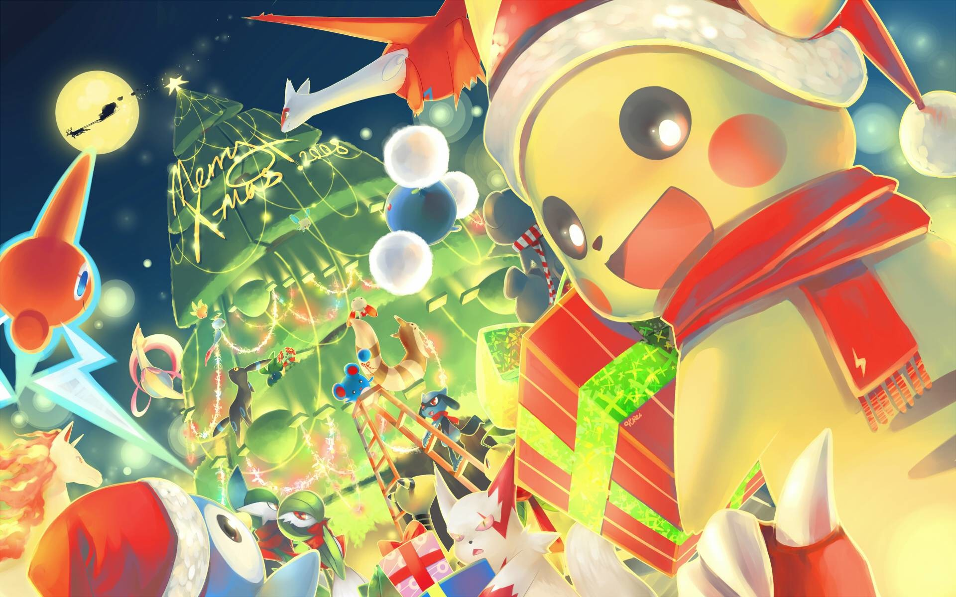 Pokemon Christmas.Pokemon Christmas Wallpaper 61 Images