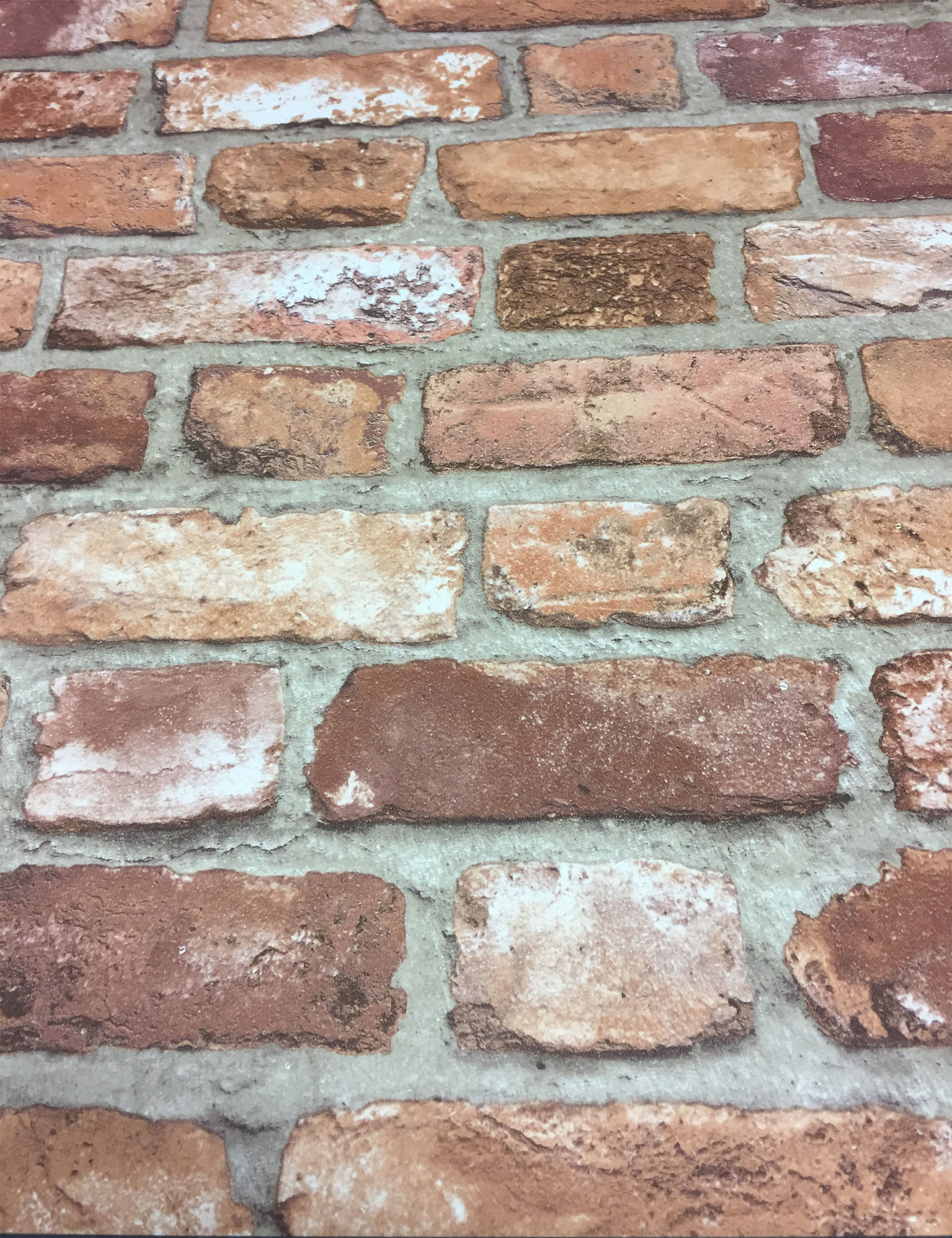 1800x2341 Details about 3D Brick Style Wallpaper Slates Stone Real Life Look Textured  Vinyl Red Grandeco