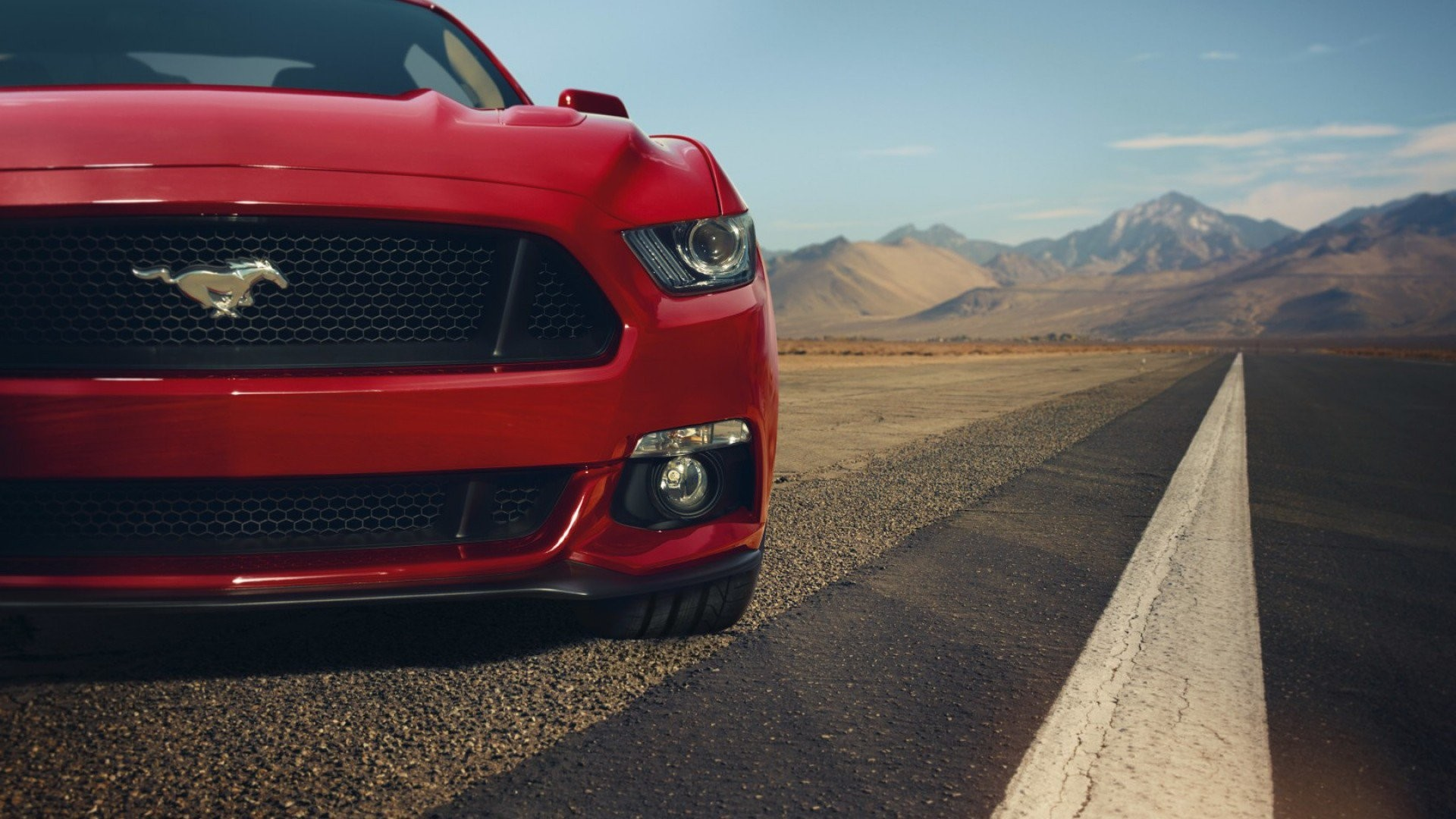 1920x1080 Ford Mustang GT Red Front Muscle Car