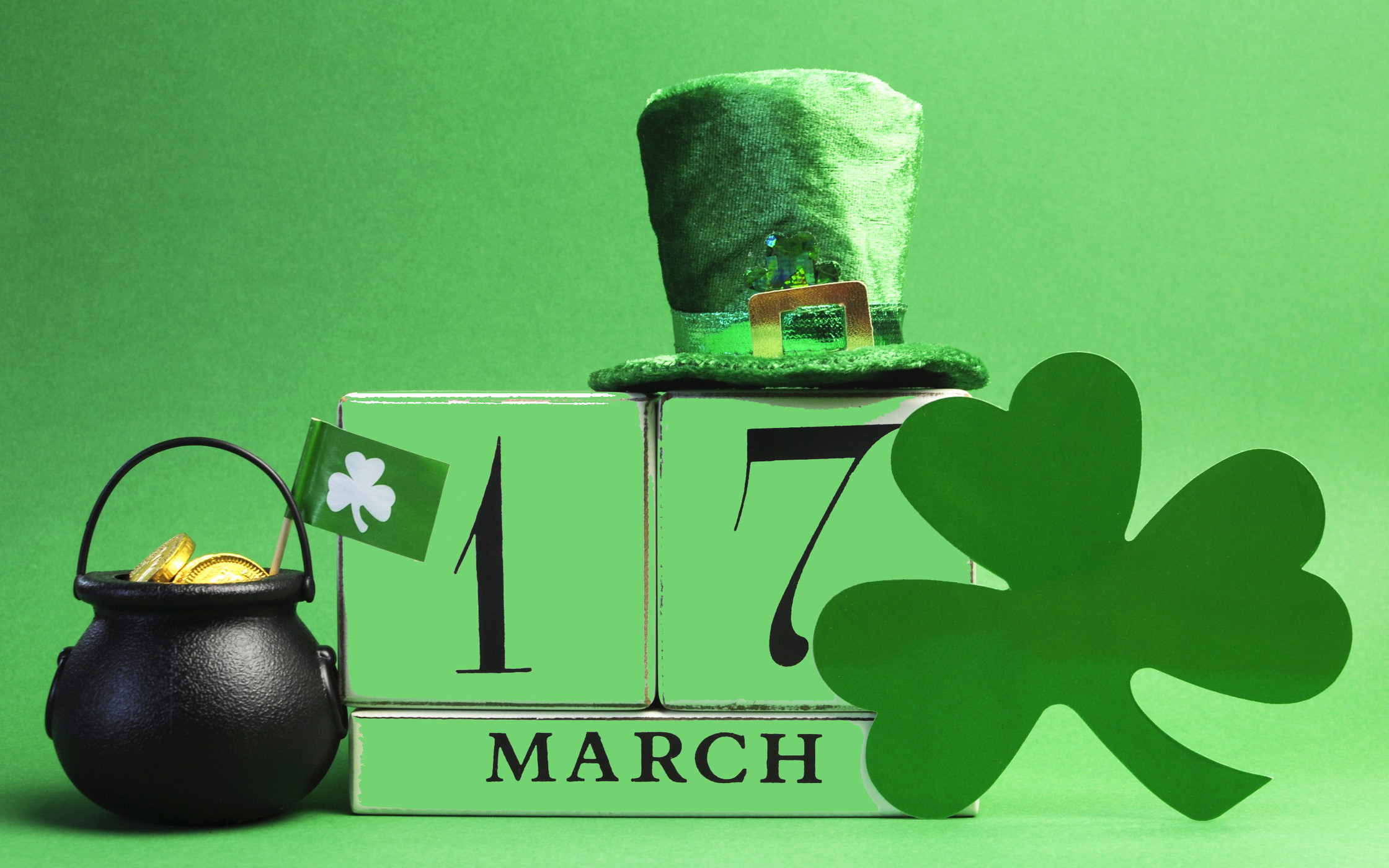 2240x1400 Happy St Patricks Day March 17 Wallpaper