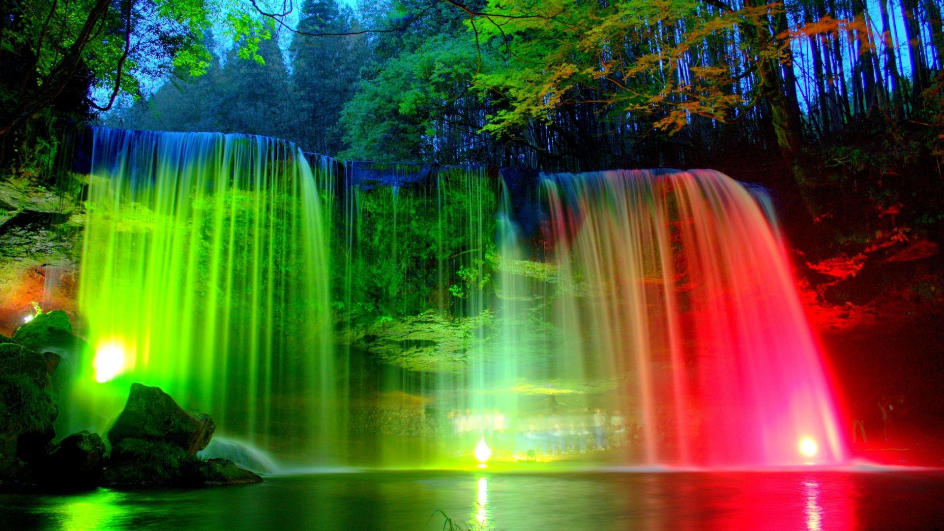 1920x1080 Hd Wallpapers Waterfall: Desktop Wallpapers Waterfalls With Rainbow (34+ Images