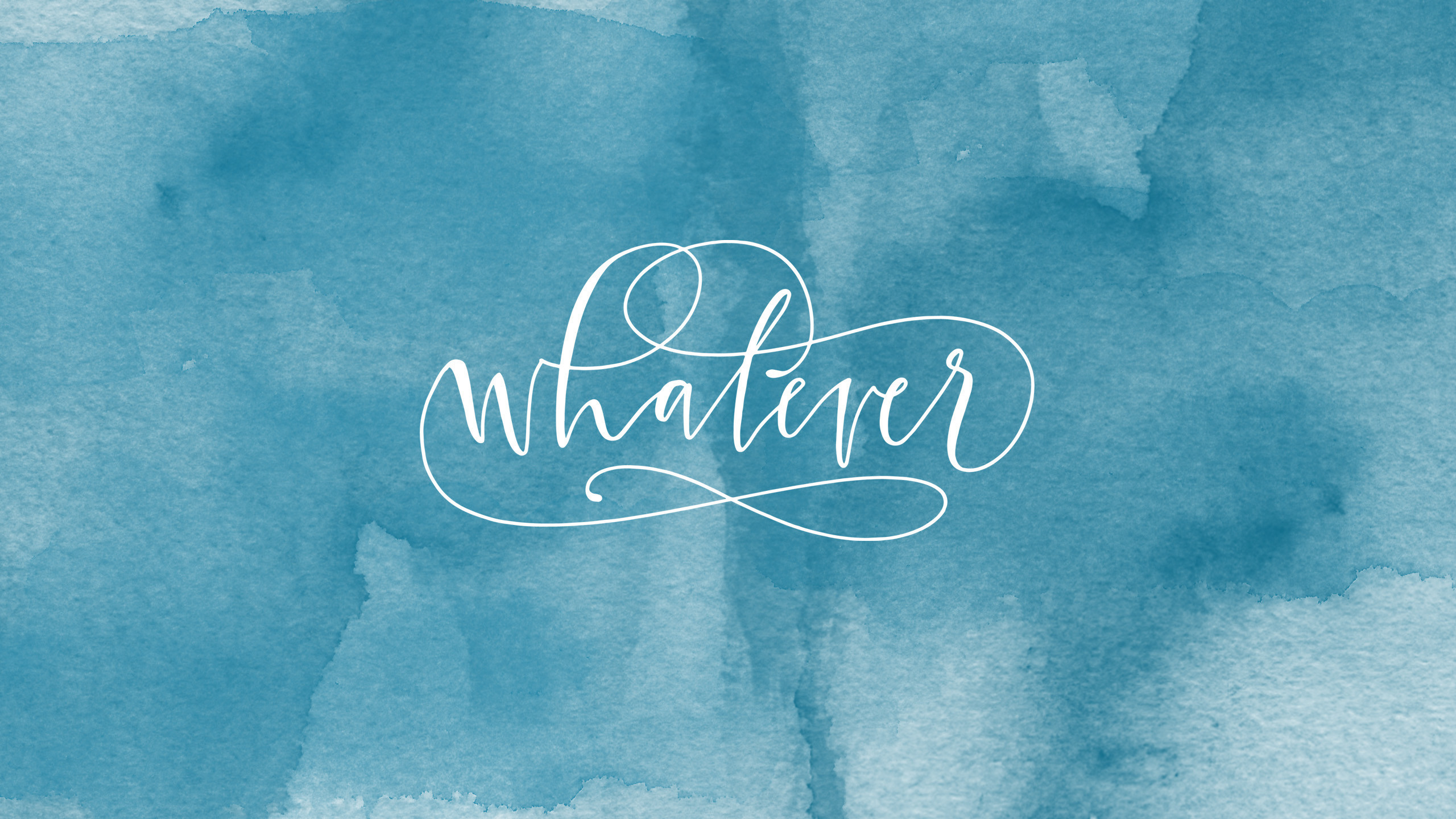 2560x1440  Blue teal watercolor Whatever desktop wallpaper background