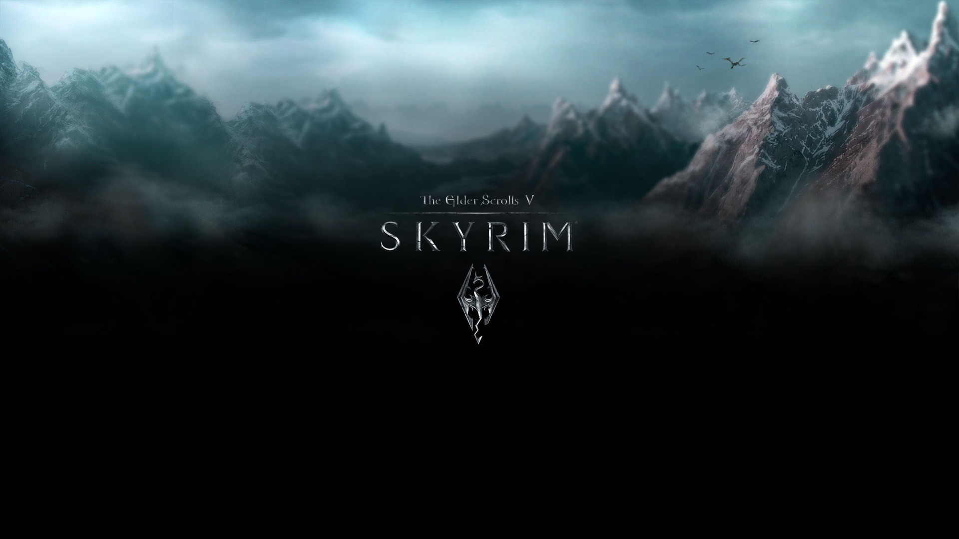1920x1080 Wallpaper The Elder Scrolls V: Skyrim logo on leather » The Elder Scrolls:  Fan site