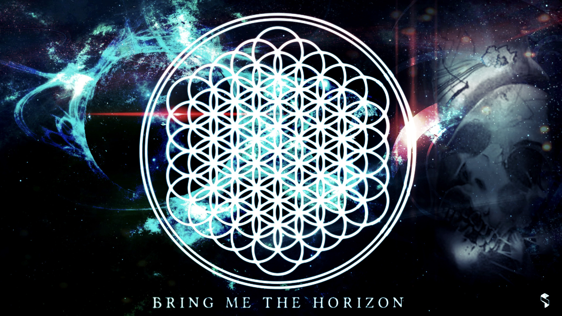3840x2160 Preview wallpaper bring me the horizon, text, sign, graphics, spray 3840x2160