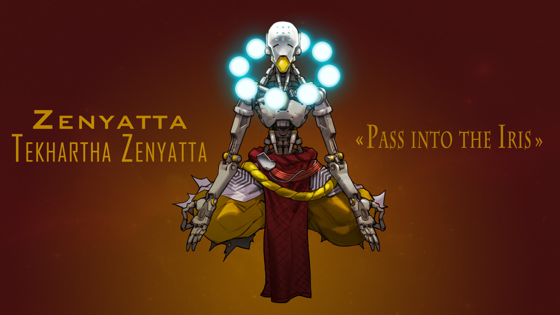 1920x1080 Zenyatta Wallpaper (Overwatch) by SuperBrioche Zenyatta Wallpaper  (Overwatch) by SuperBrioche
