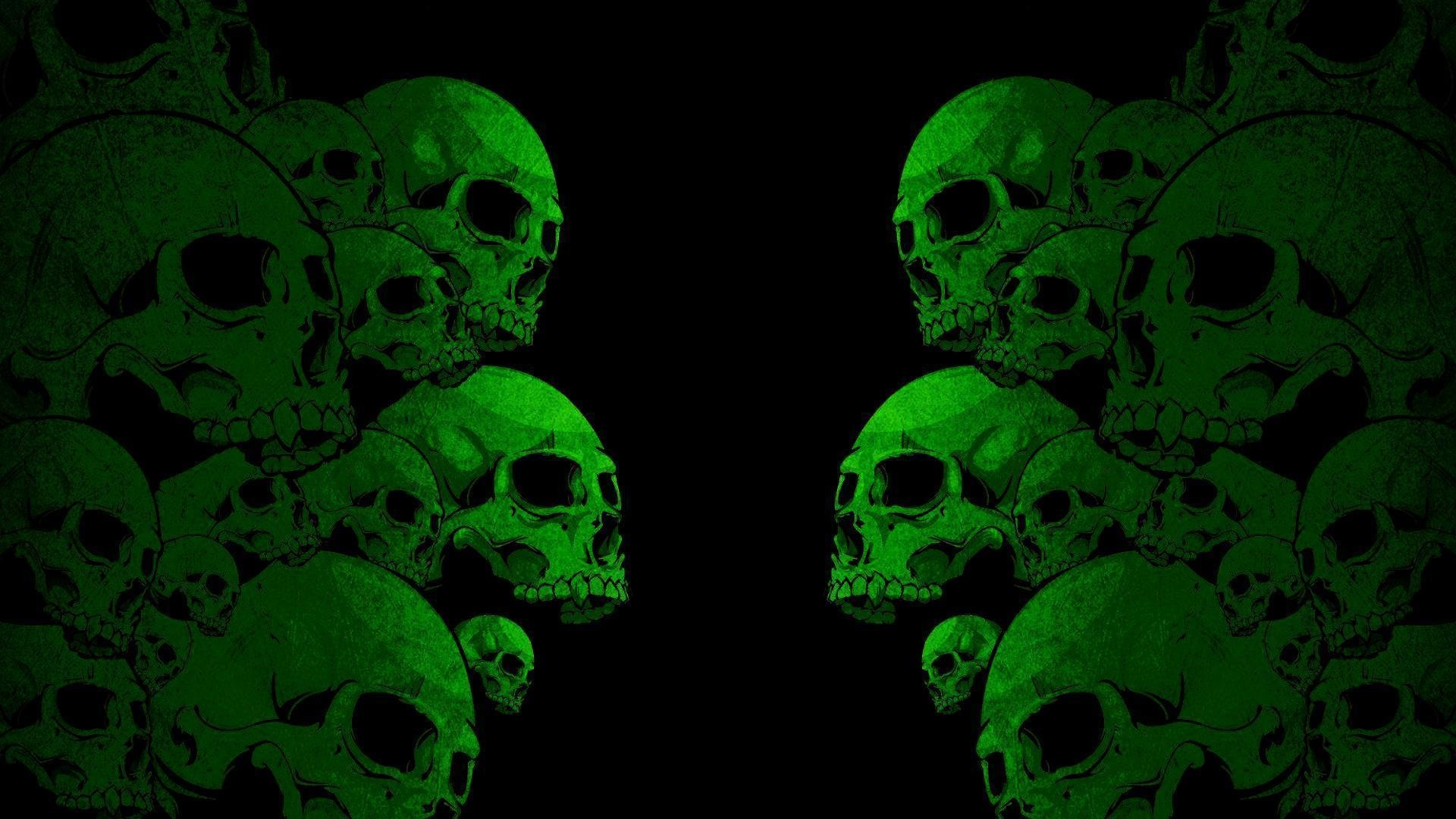 Green Skull Wallpaper 53 Images