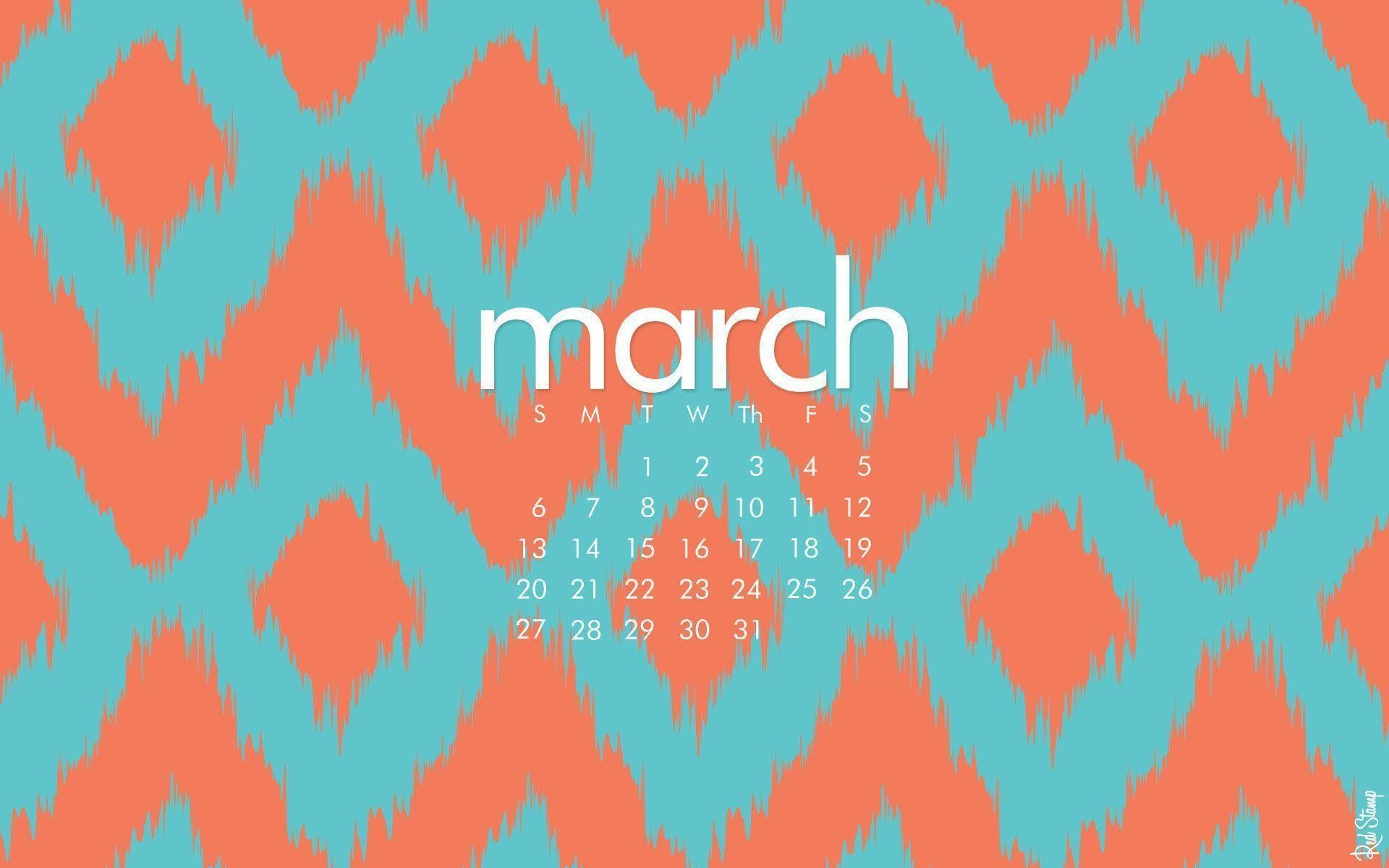 1920x1200 March Desktop Calendar wallpaper - 359709