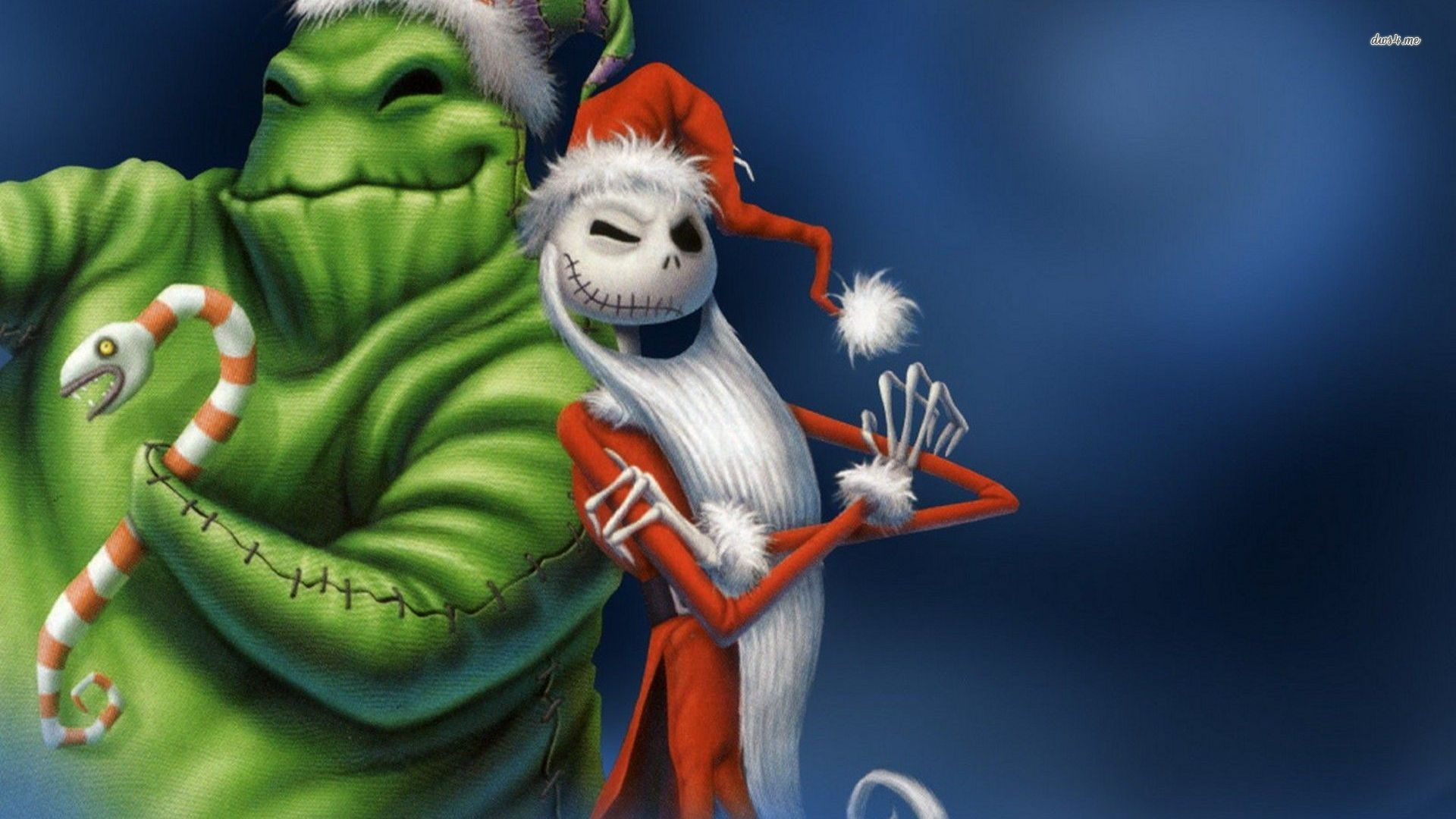 1920x1080 Oogie Boogie And Jack Skellington The Nightmare Before Chr Cartoon Hd  Wallpaper