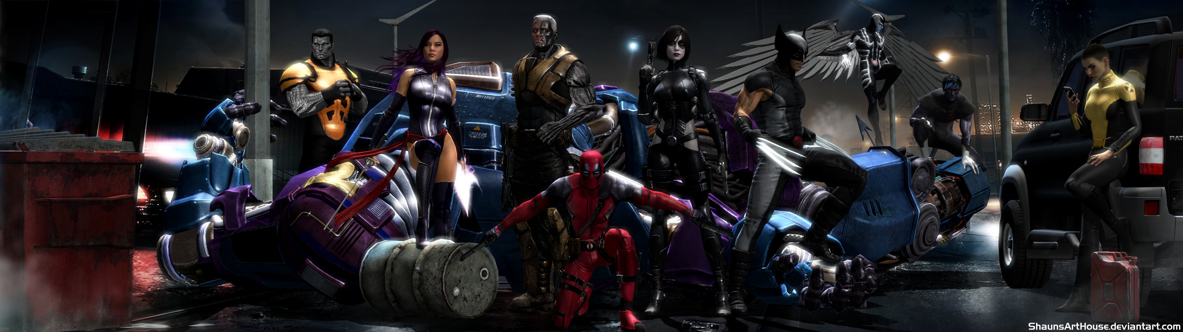3840x1080 ... X-Force Movie Dual Screen Wallpaper by ShaunsArtHouse