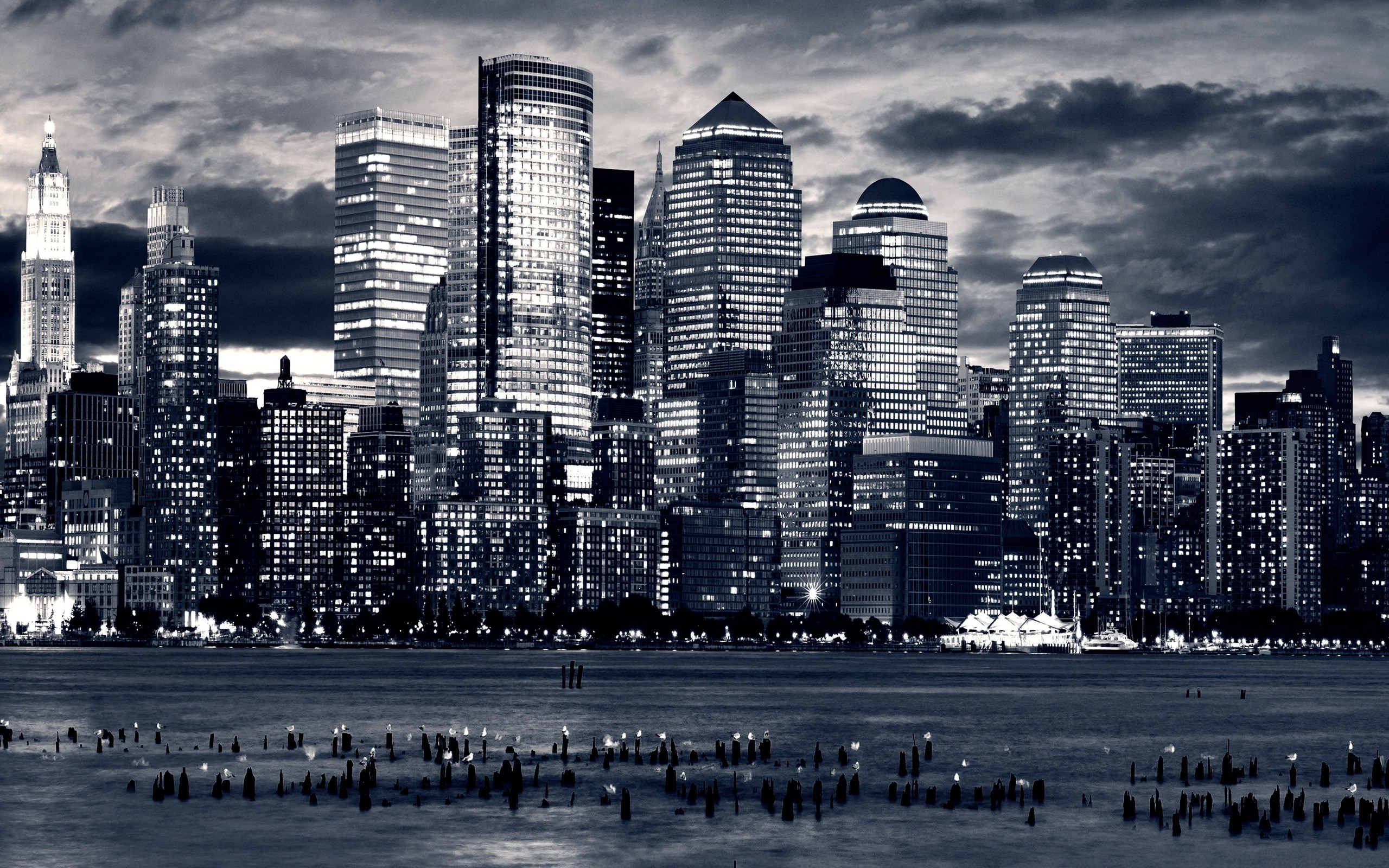 2560x1600 New York City Wallpaper Black And White
