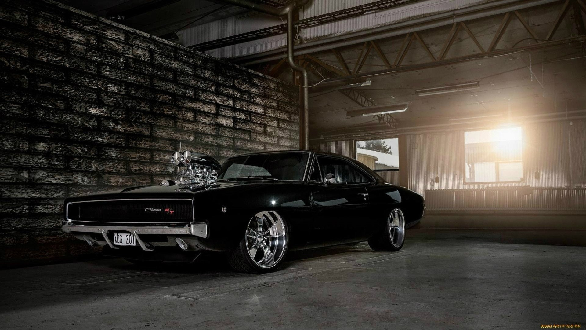 1920x1080 Mopar Black Classic