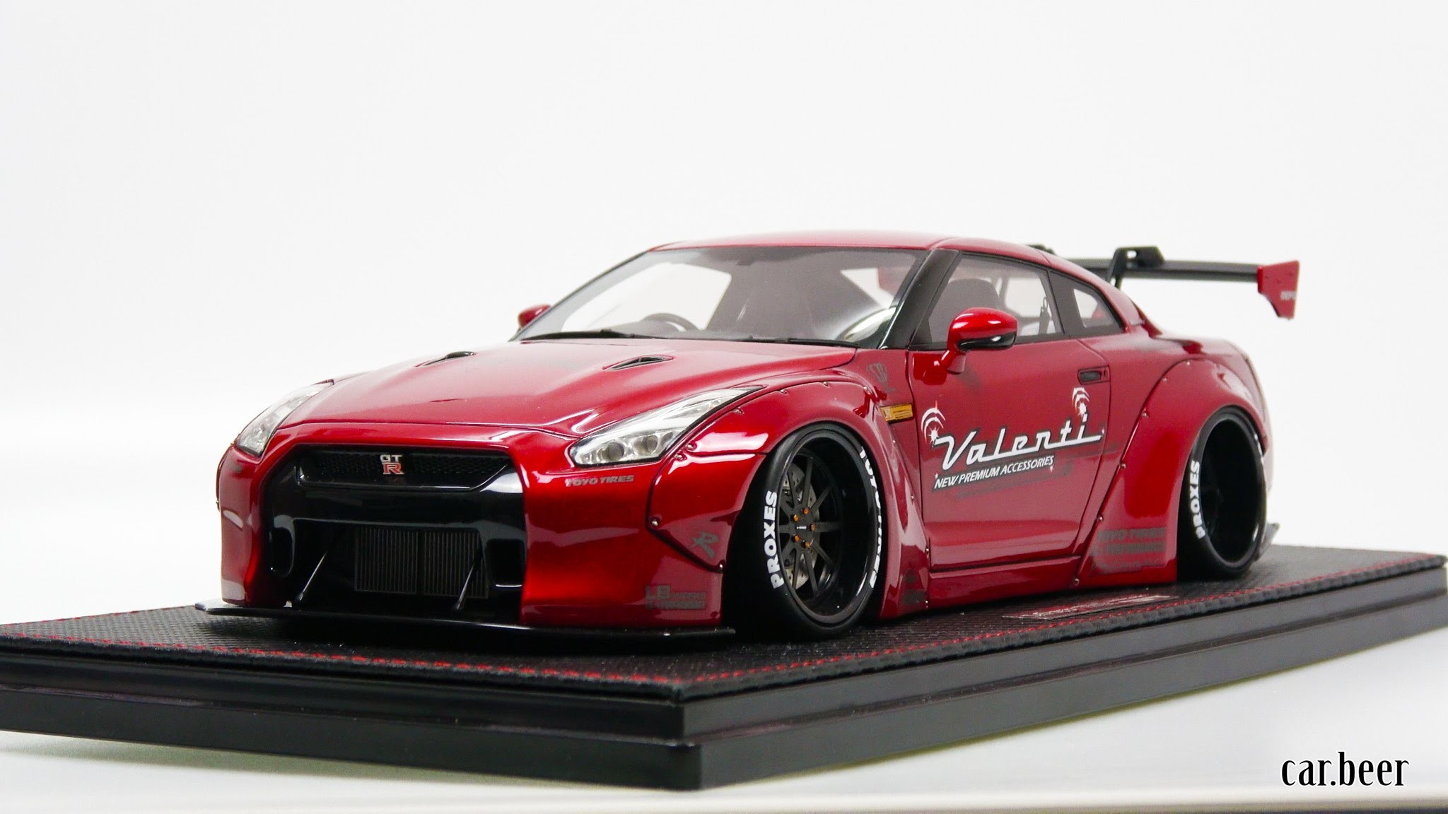 2048x1152 1/18 Ignition Model Liberty Walk LB-Works Nissan GT-R (R35) Red review - 4K  video