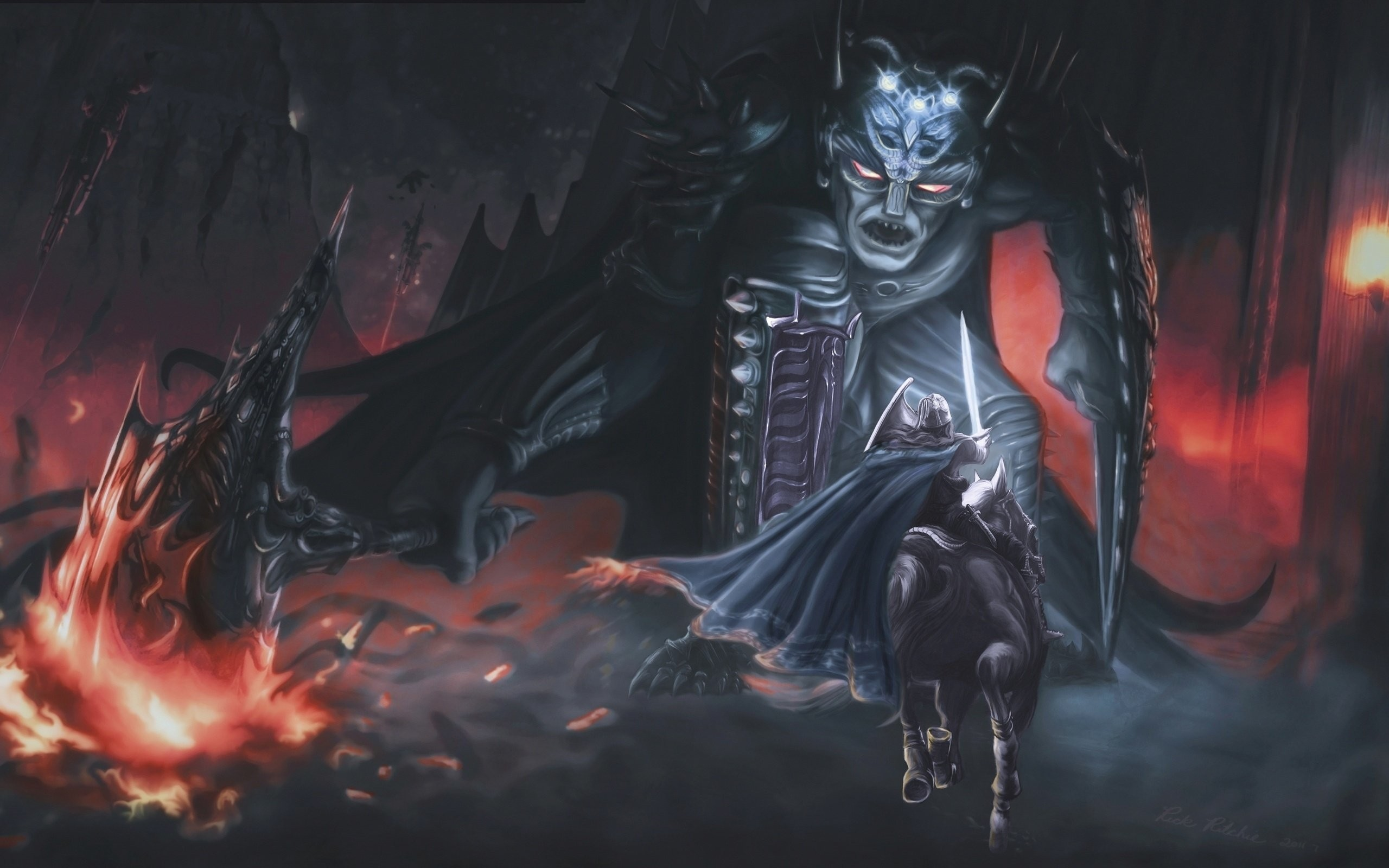 2560x1600 Morgoth And Fingolfin