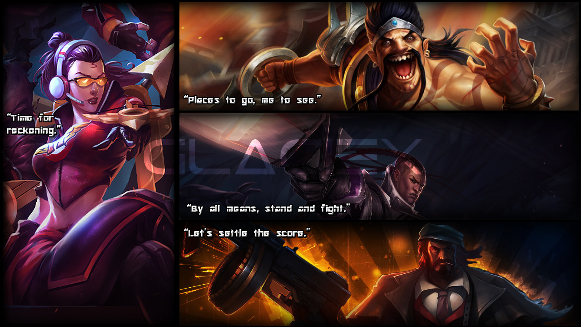1920x1080 ... League of Legends - Vayne, Draven, Lucian, Graves by Glaciex