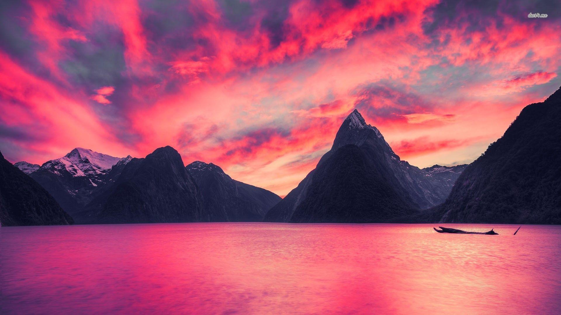 Pink Lake Wallpaper