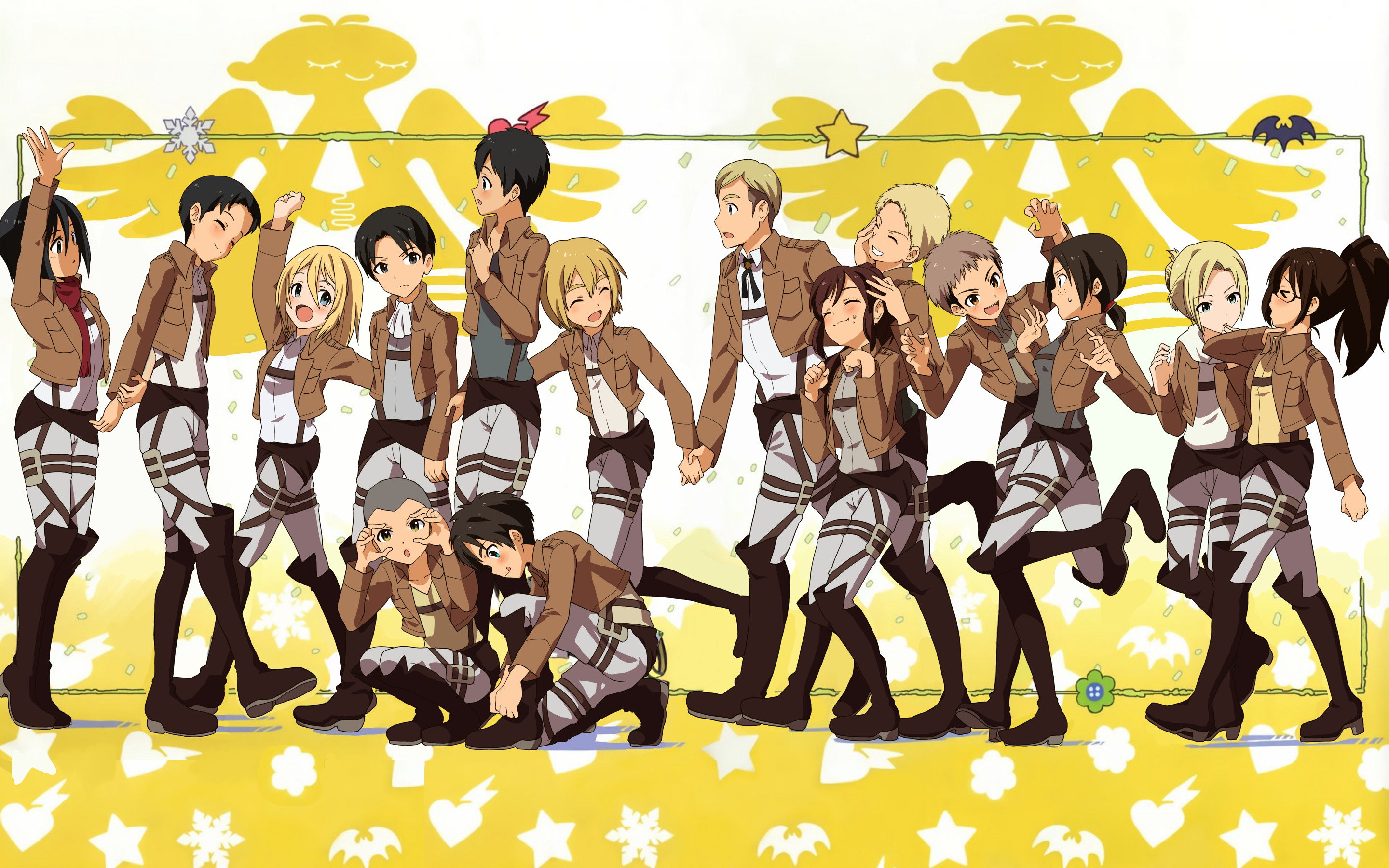 2880x1800 Everyone in pre-chibi version <3 Shingeki no Kyojin (AoT) Wallpaper <