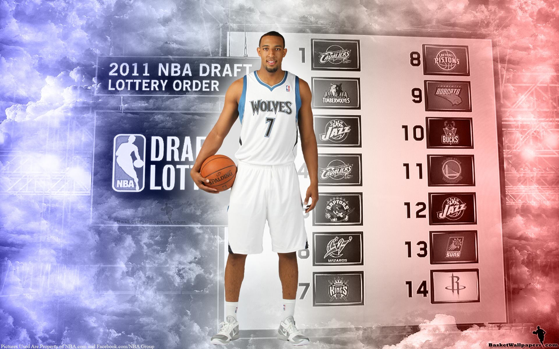 1920x1200 Derrick Williams Minnesota Timberwolves Jersey Widescreen Wallpaper