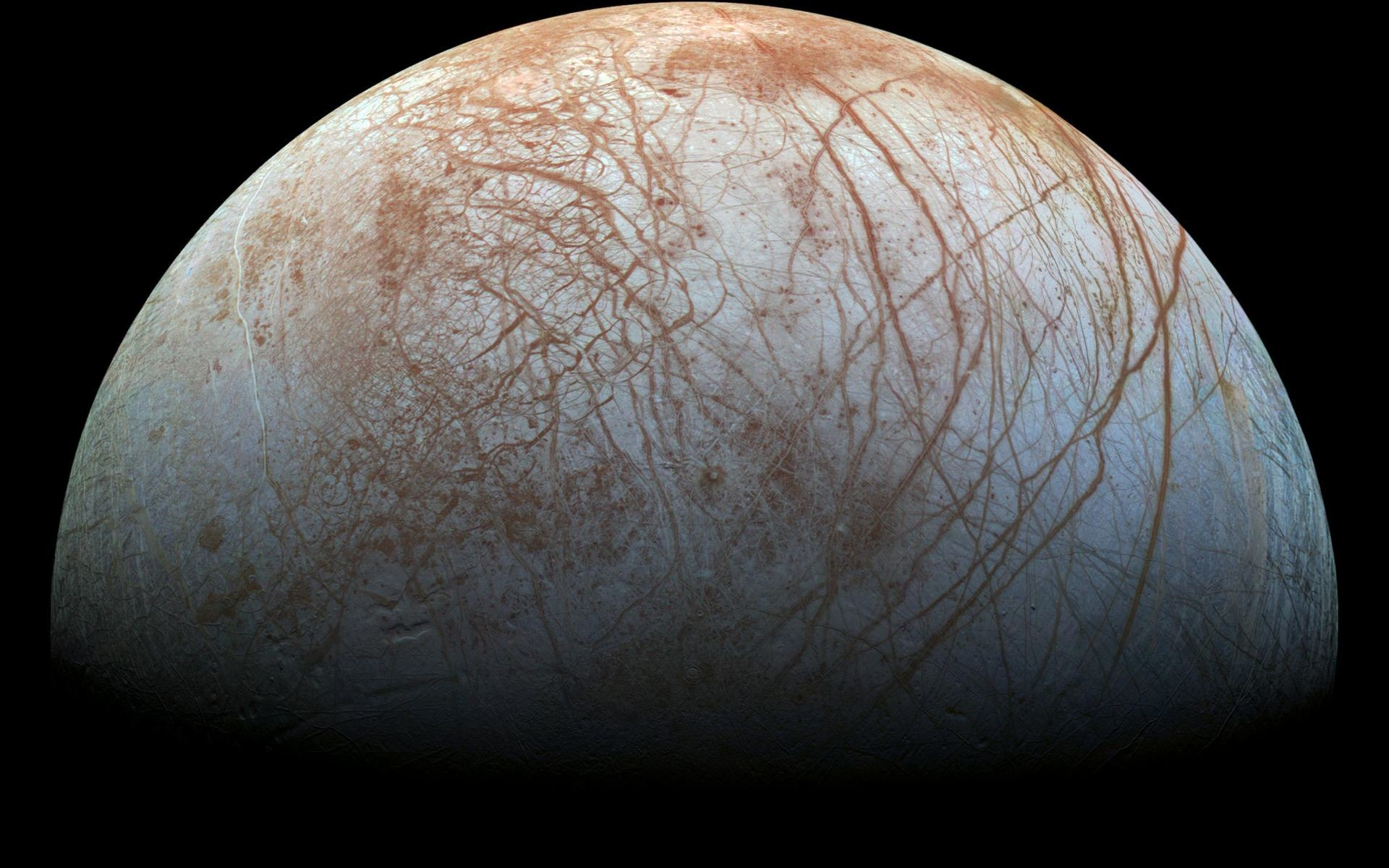 1920x1200 The puzzling, fascinating surface of Jupiter's icy moon Europa looms large  in images taken by