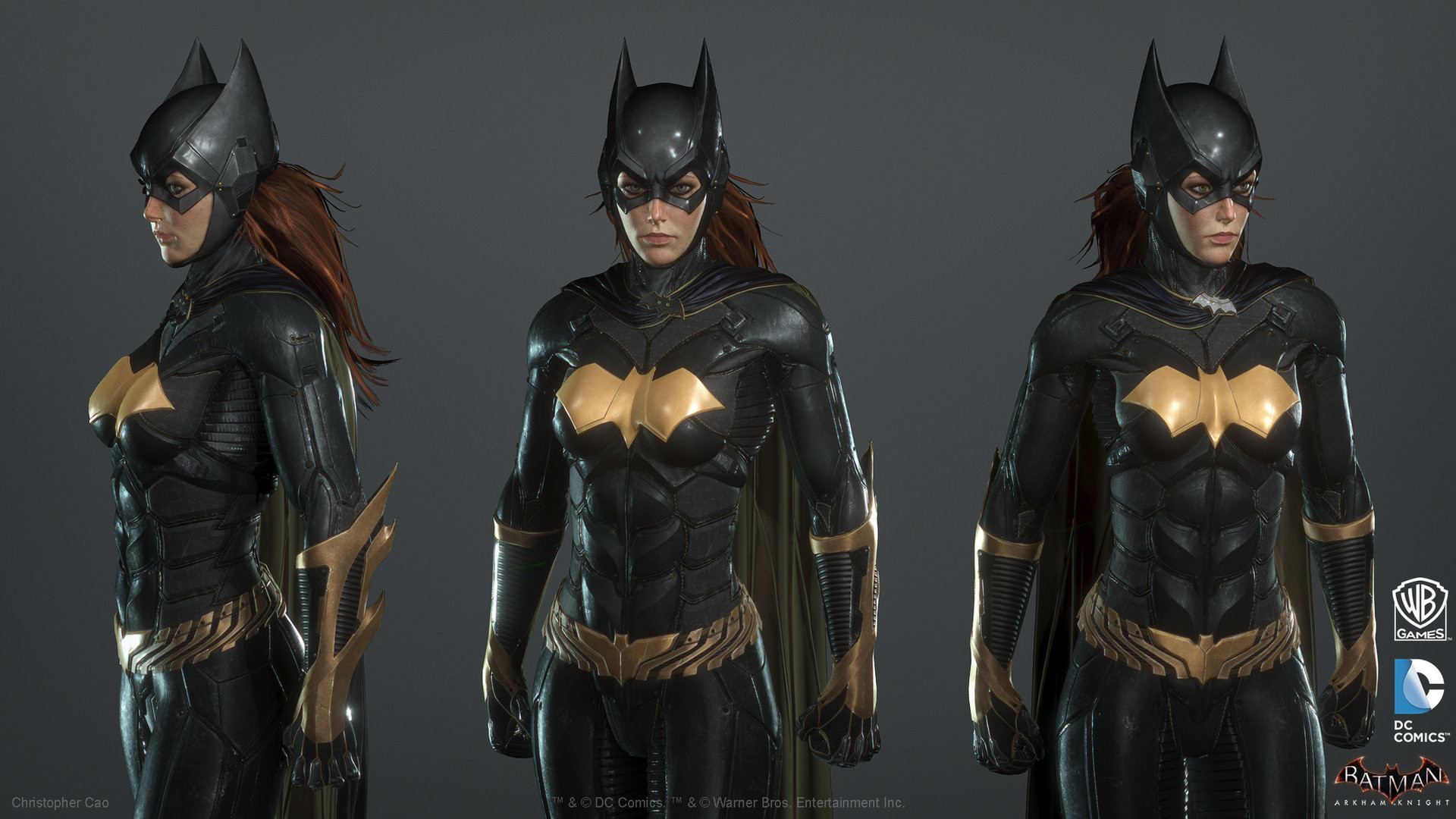1920x1080 Batman: Arkham Knight DLC, Batgirl Game Model, Christopher Cao on ArtStation