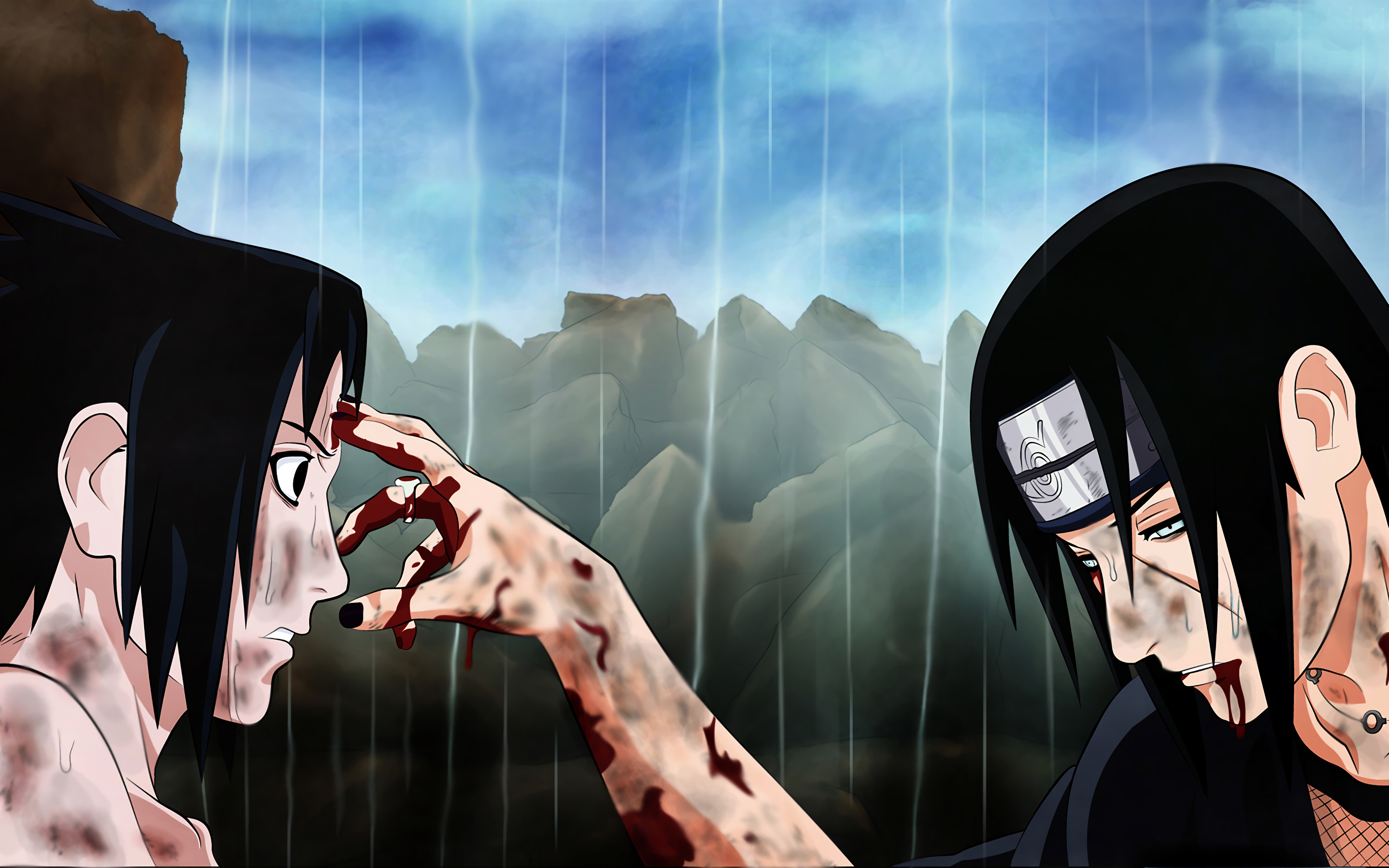 Sasuke and itachi wallpaper hd 62 images 2880x1800 hd wallpaper background id72695 voltagebd Image collections