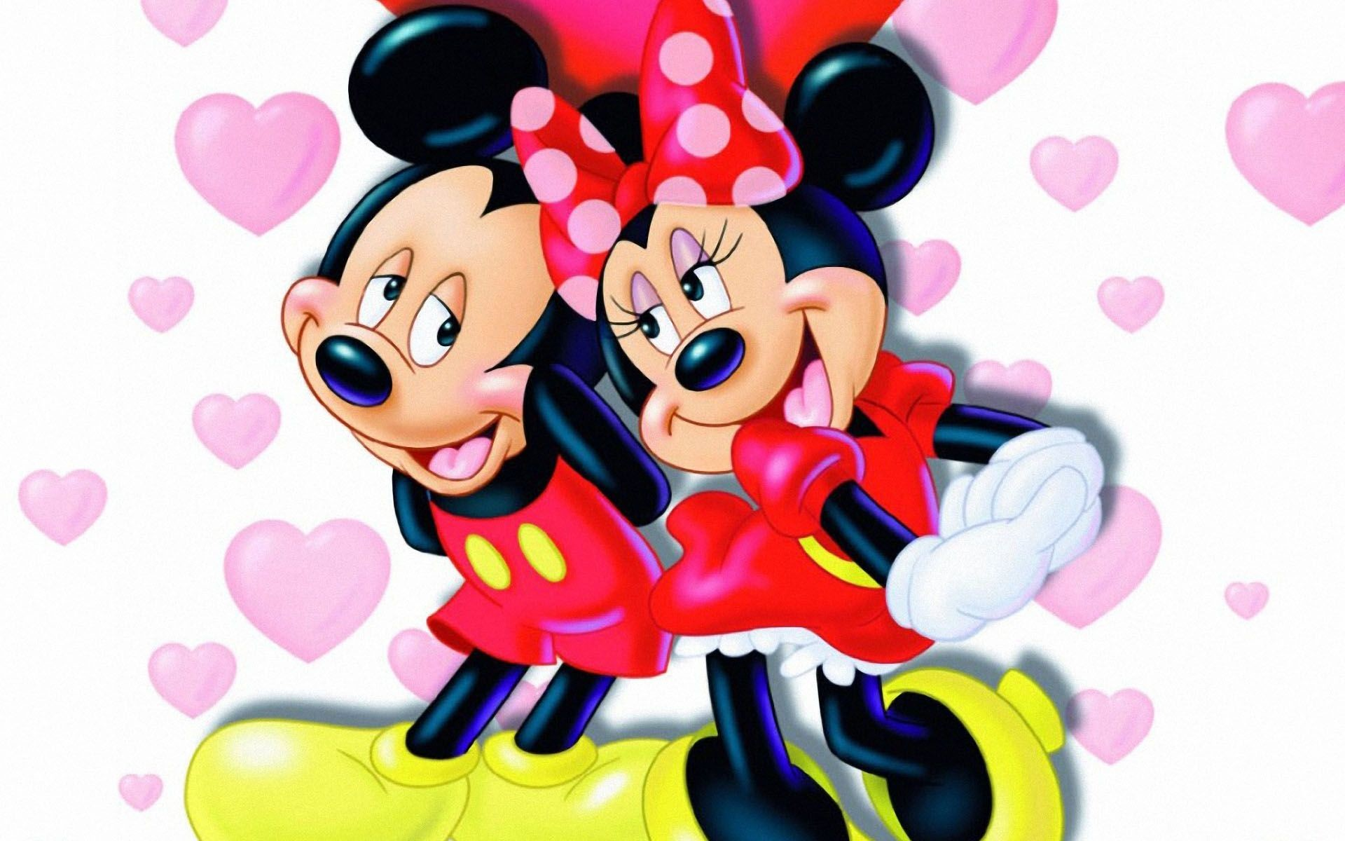 1920x1200 valentines mickey mouse pic