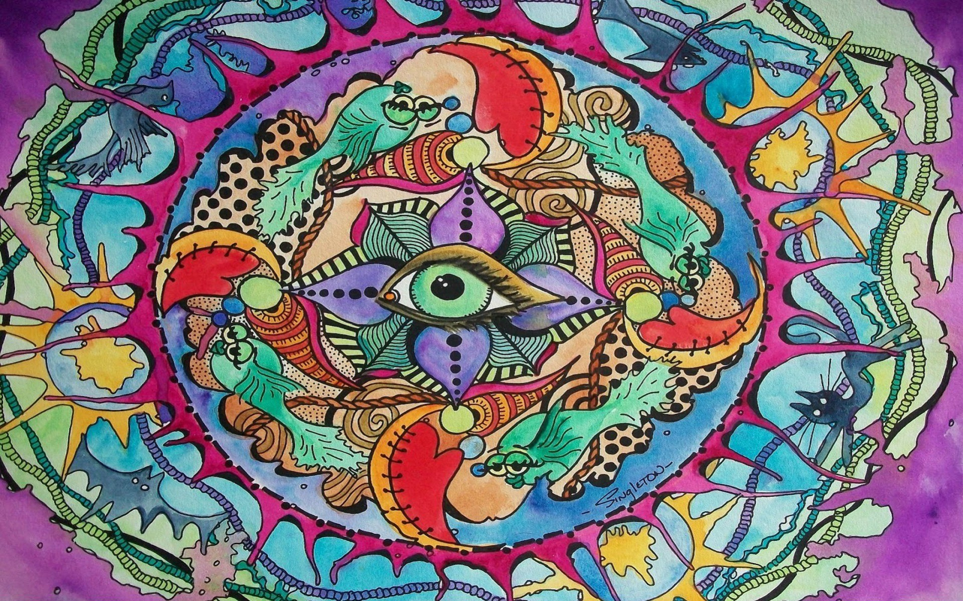 1920x1200 The Eye Knows All Psychedelic wallpapers and stock photos