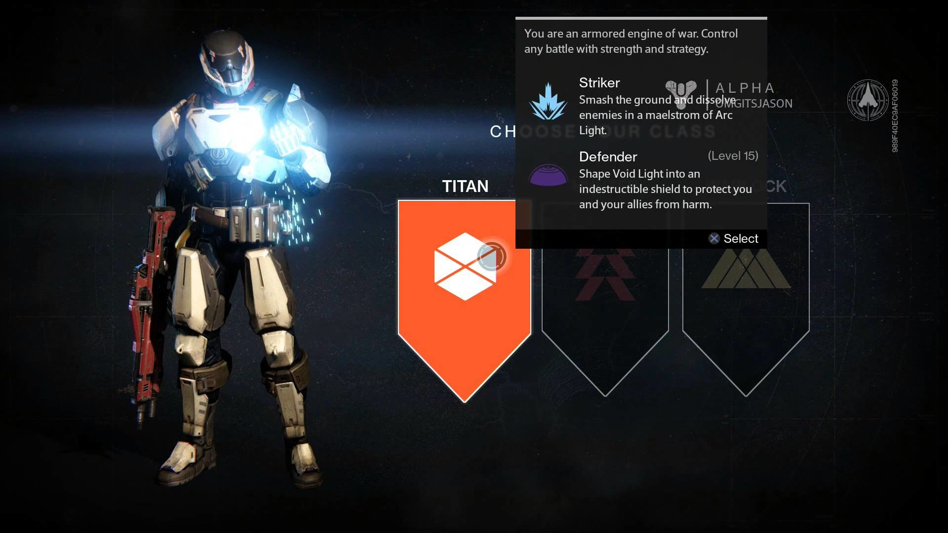 1920x1080 Destiny - (Alpha) Classes Info: Titan (Defender) Hunter (Gunslinger)  Warlock (Voidwalker) PS4 - YouTube