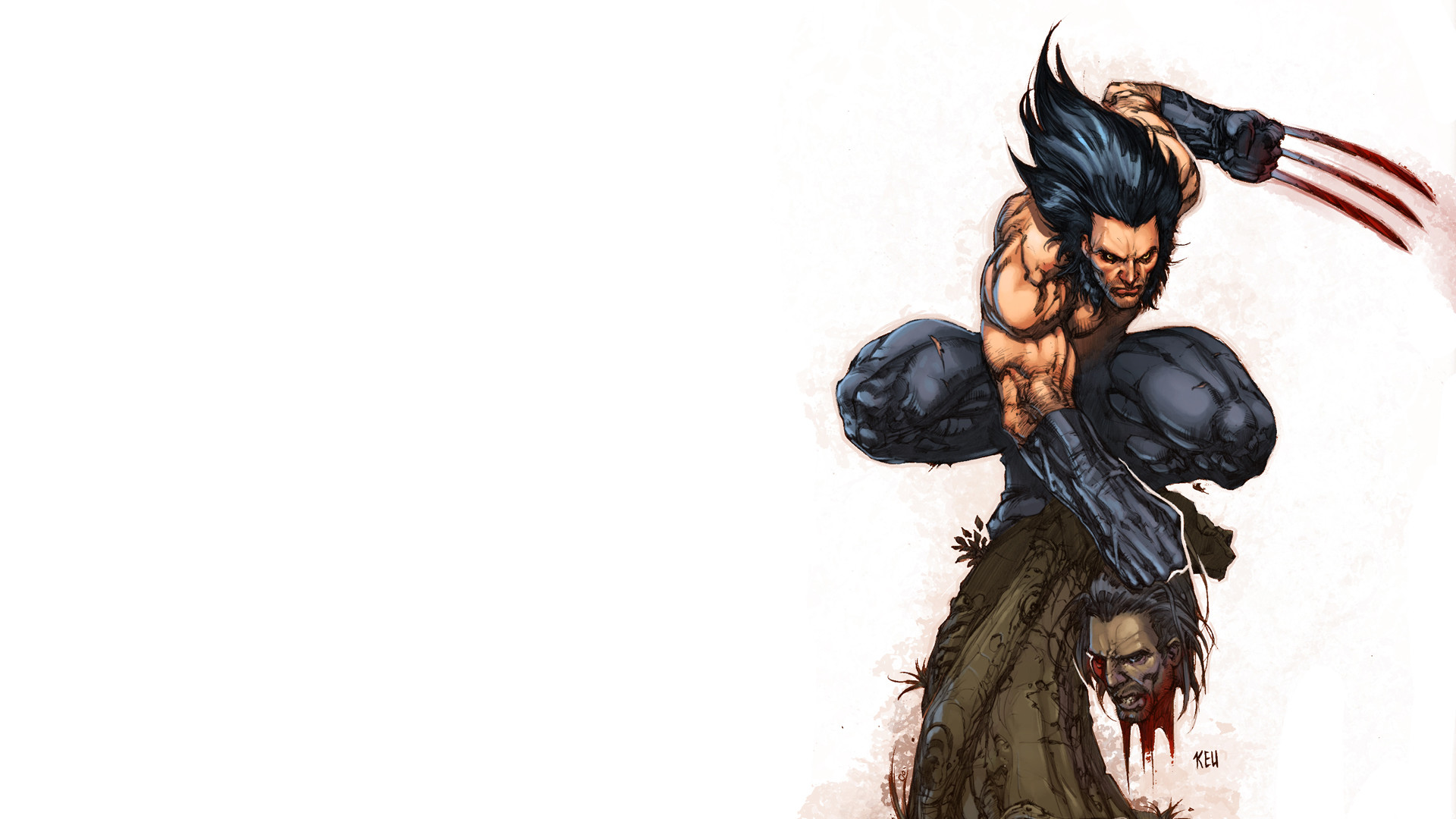 1920x1080 Wolverine Head White Blood Marvel wallpaper |  | 71515 .