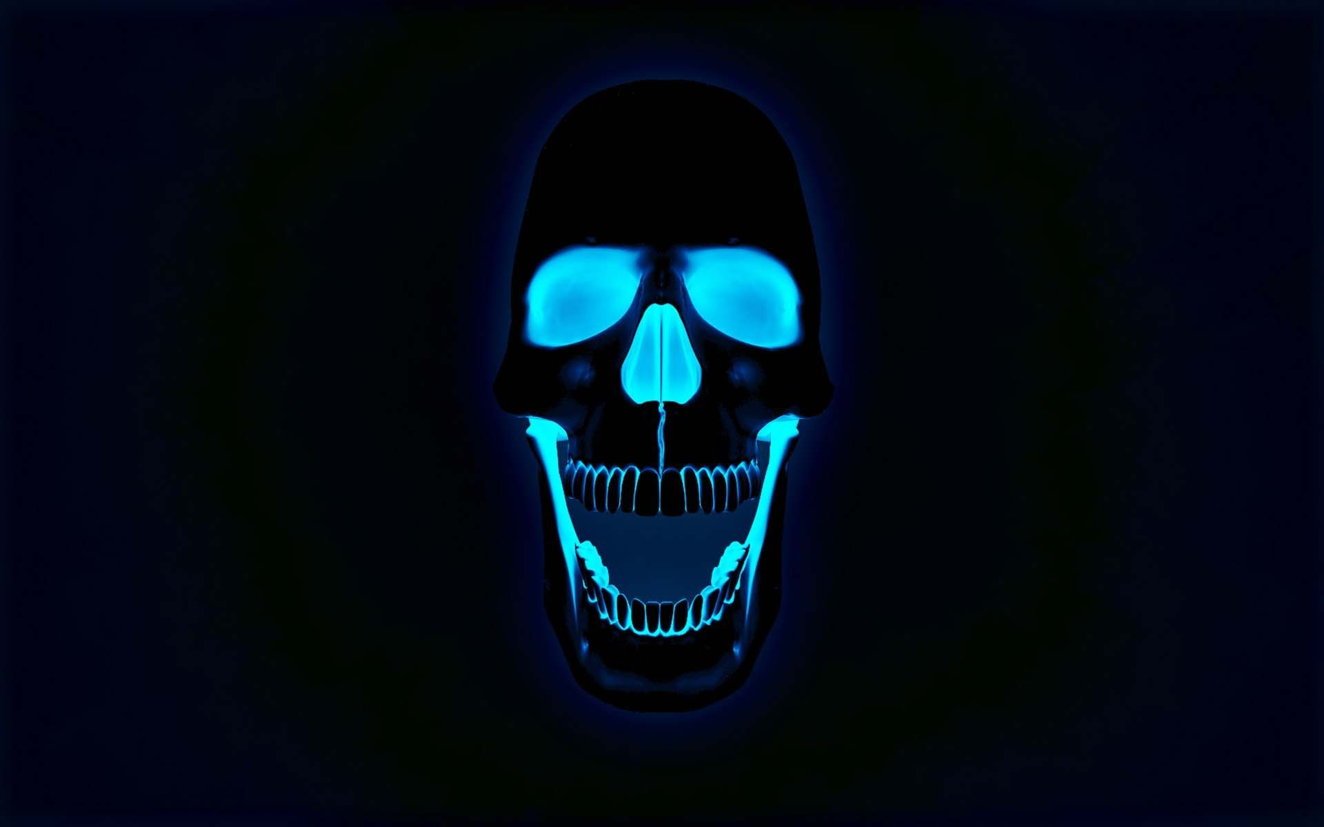 1920x1200 The Neon Skull | HD 3D and Abstract Wallpaper Free Download ...