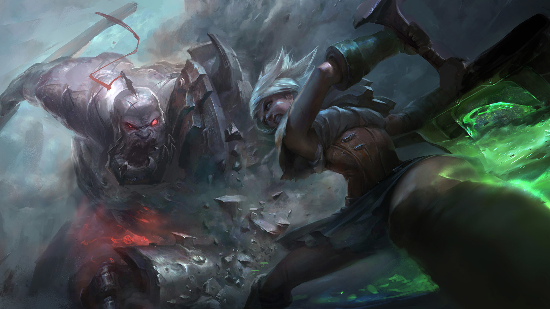 1920x1080 Riven Vs. Sion Wallpaper  Version ...