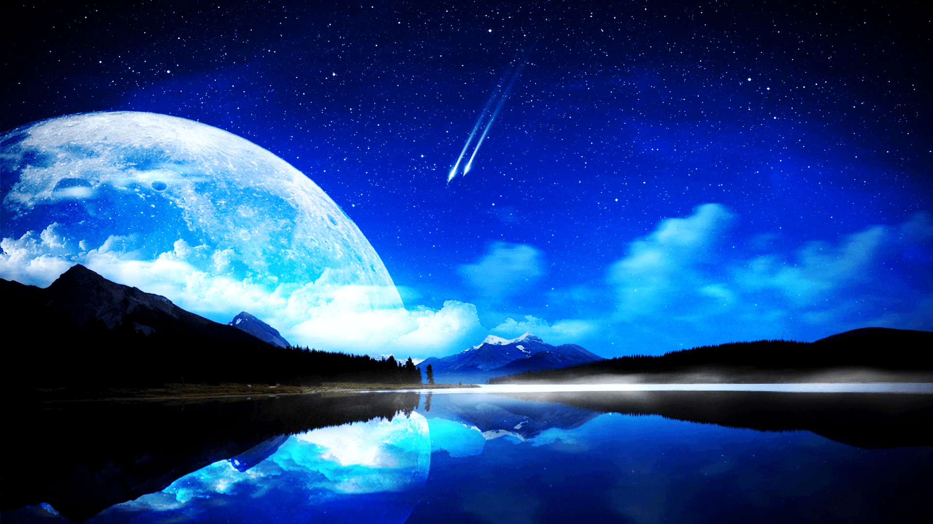 "1920x1080 2560x1600 Moon And Stars Backgrounds"">"