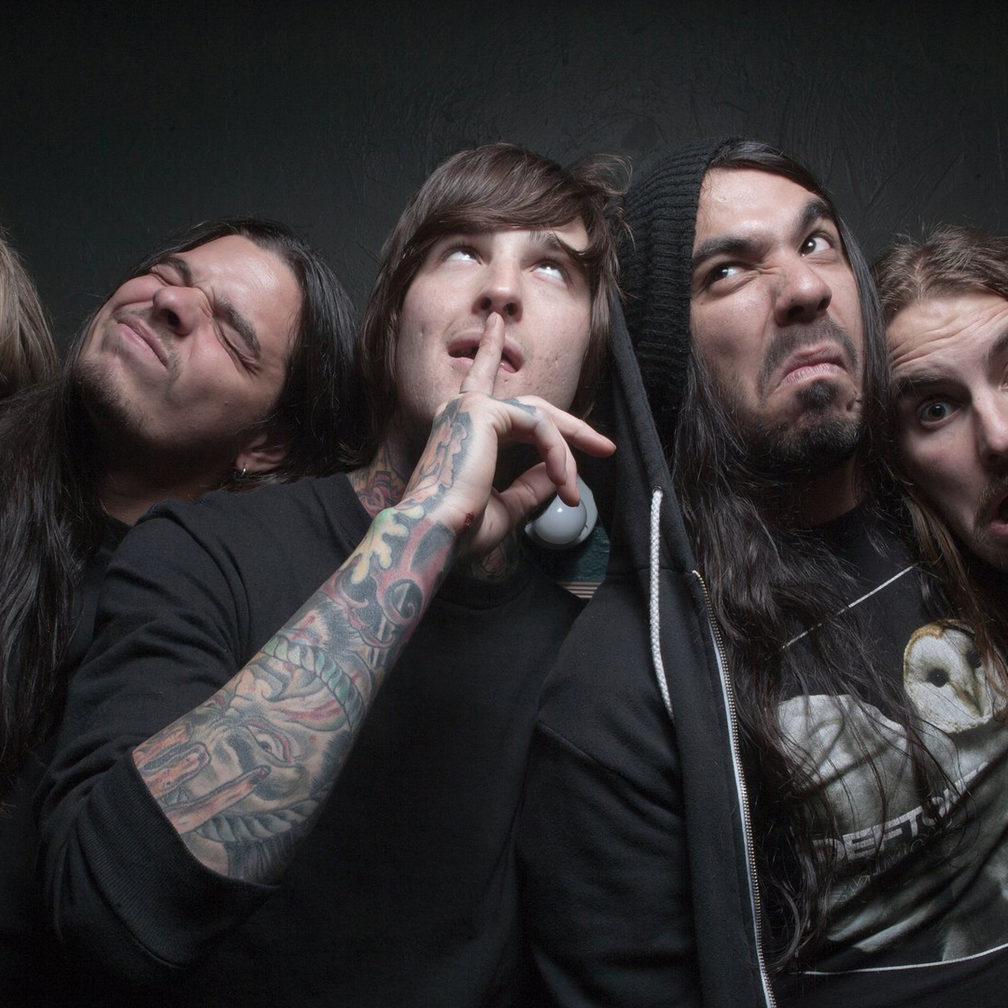 2048x2048  Wallpaper suicide silence, deathcore, mark heylmun, chris garza, mitch  lucker,