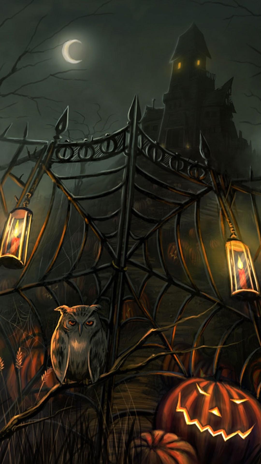 Halloween Haunted House Wallpaper Download