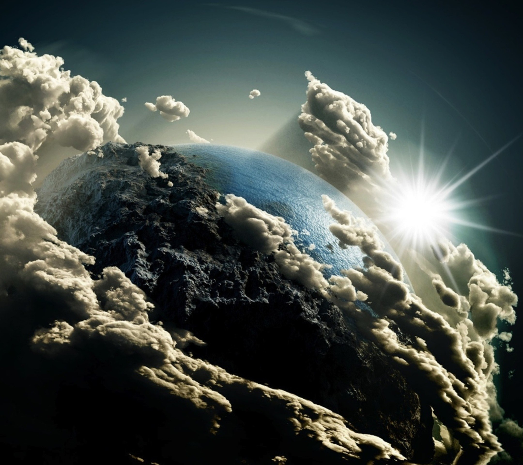 2160x1920 Earth's View in Clouds - Top 10 HD Samsung Galaxy S5 Wallpapers download