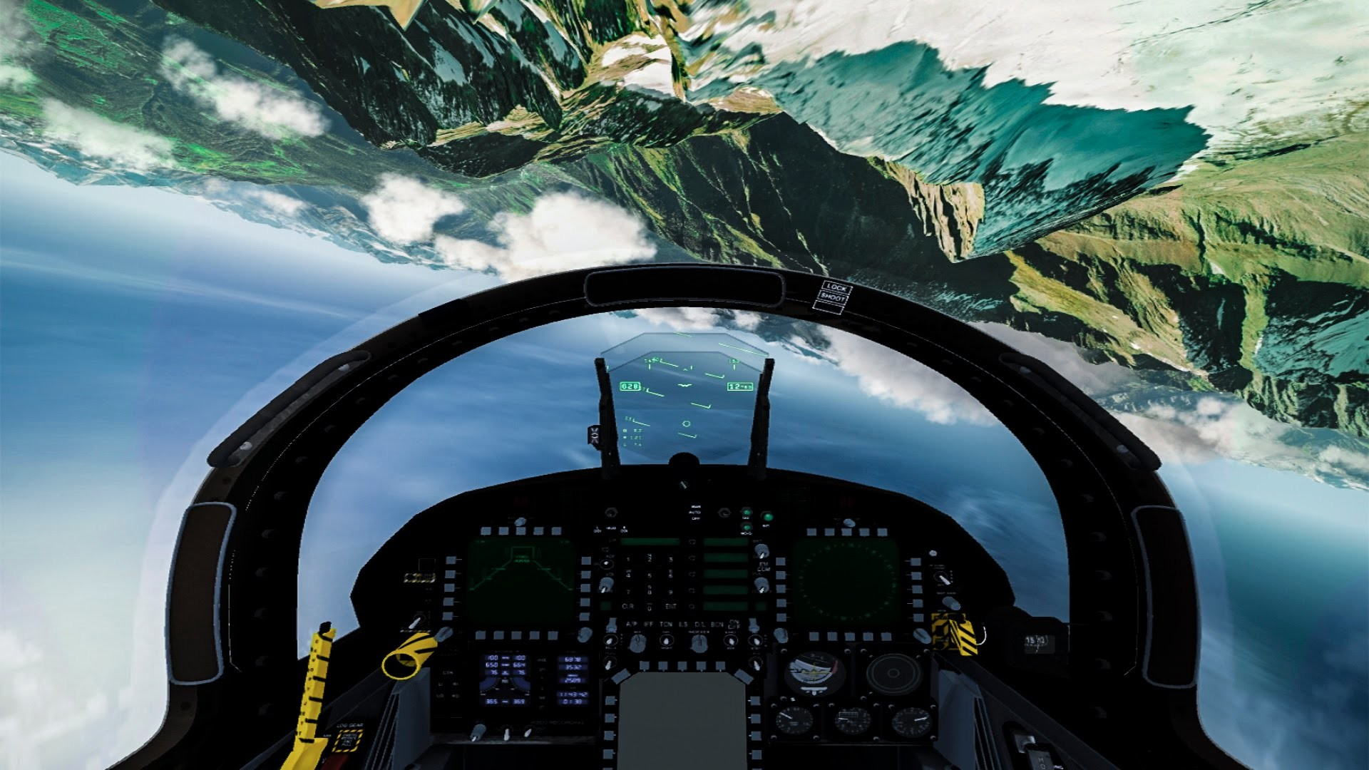 1920x1080 Extreme Flying F-18 Fighter Jet Through The Mountains (cockpit view) -  YouTube