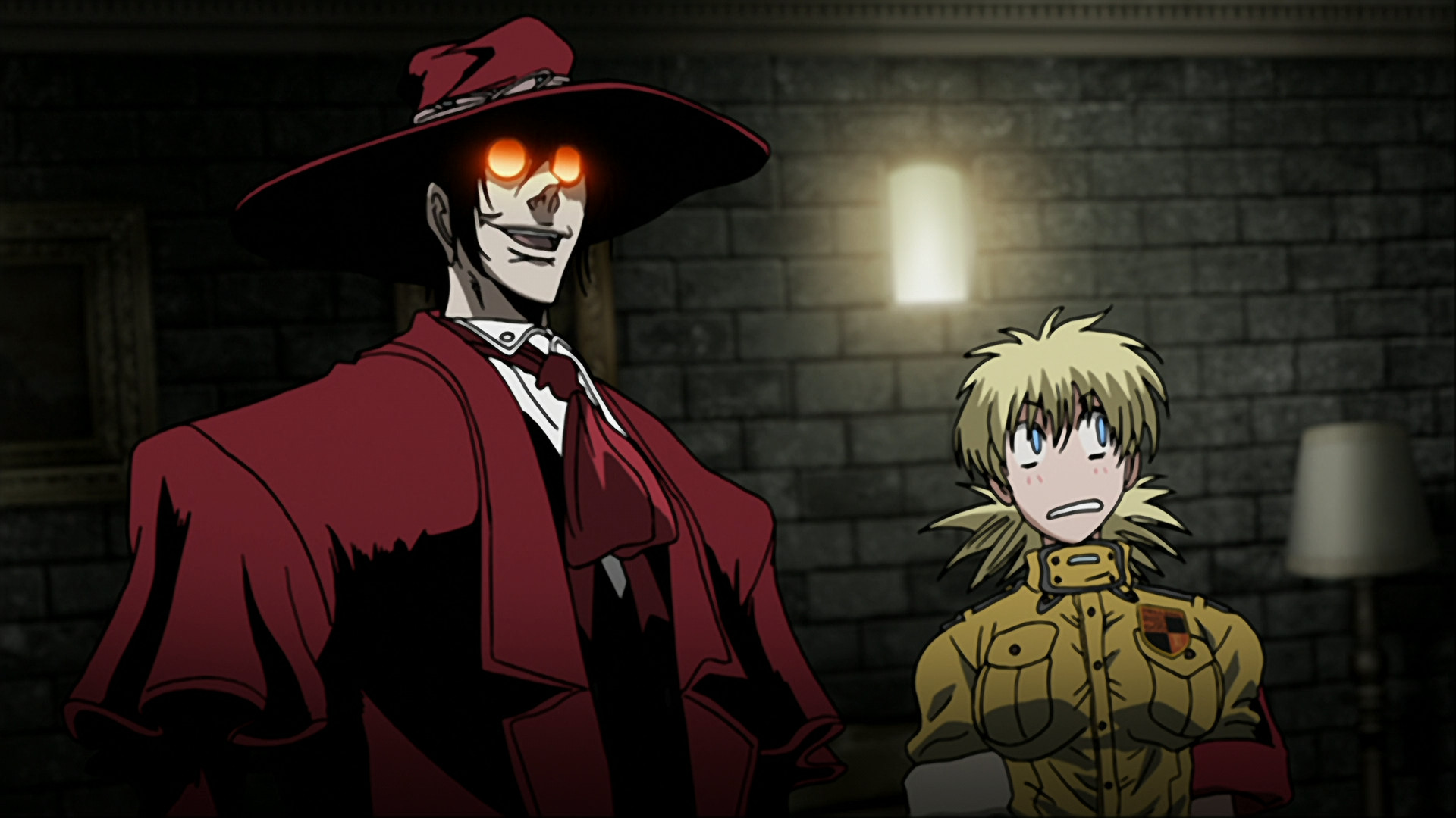 1920x1080 In flashback, Integra is seen assuming leadership of the Hellsing  organization as she resolves a conflict with her uncle with the help of the  vampire ...