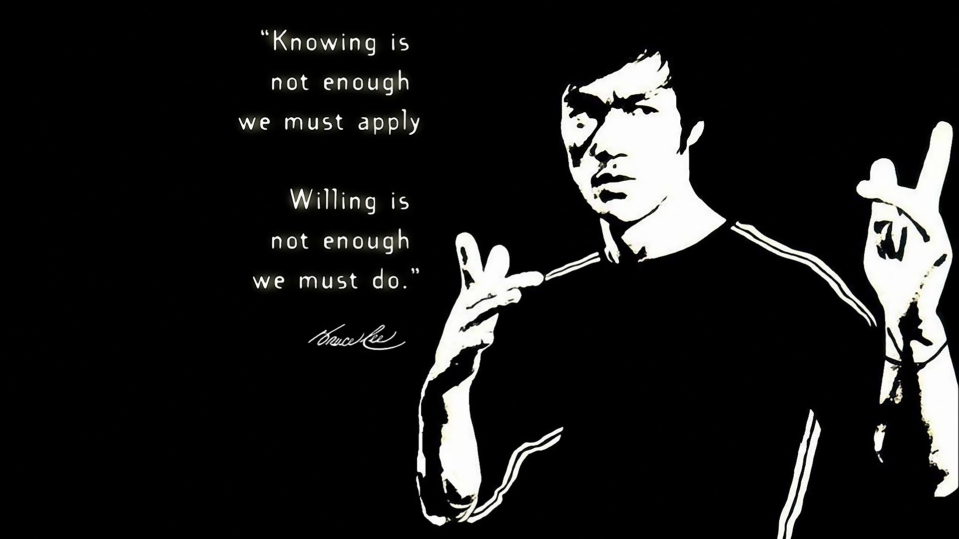 1920x1080 ... Wallpaper Hd 1080p Black And White Quotes Bruce Lee High Resolution  Full Size Ncaa Football Doug ...