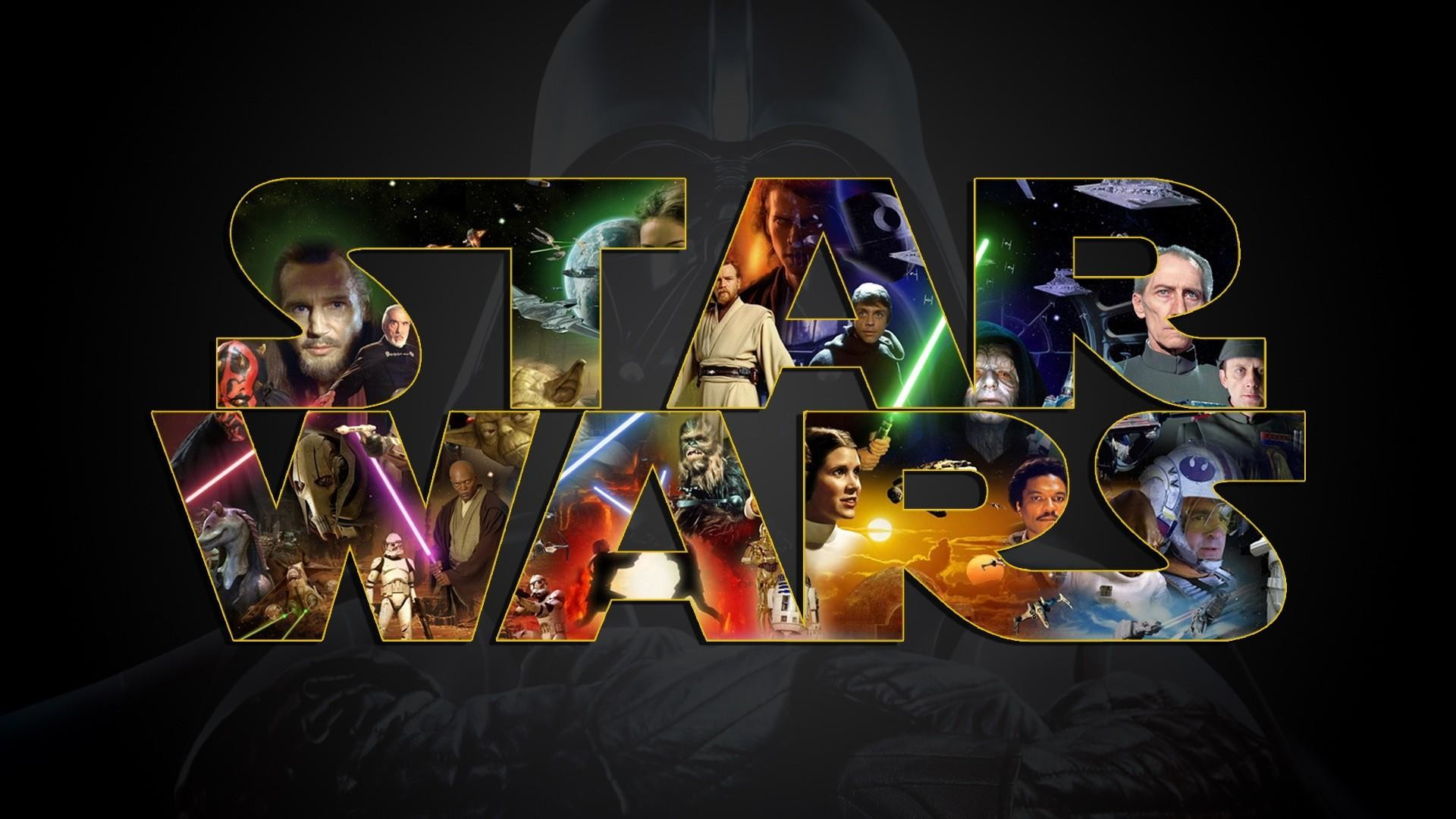 1920x1080 Star-Wars. really great hi resolution wallpaper with a good montage of  characters from all of the movies