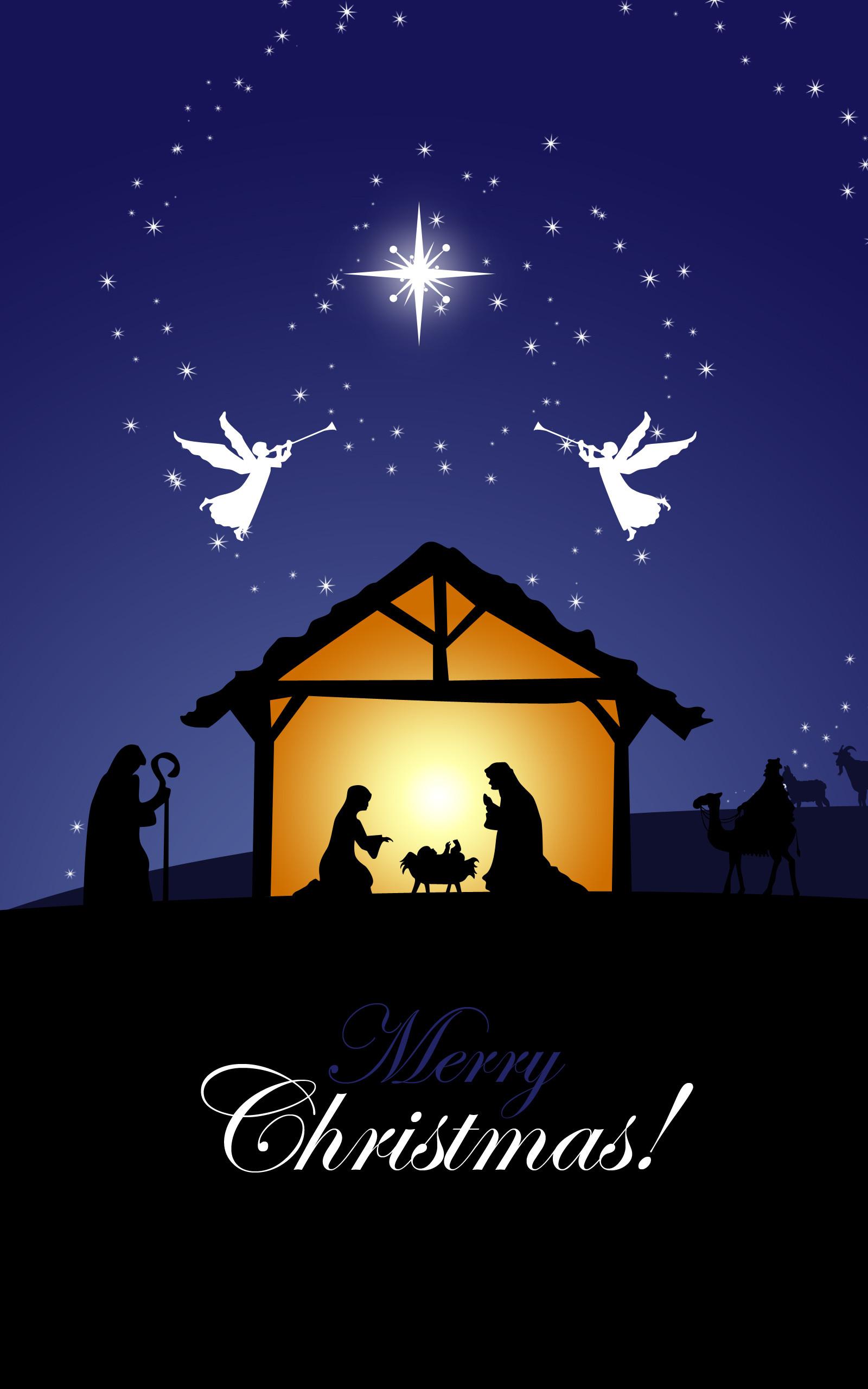 1600x2560 Nativity Scene Mobile Wallpaper 21422