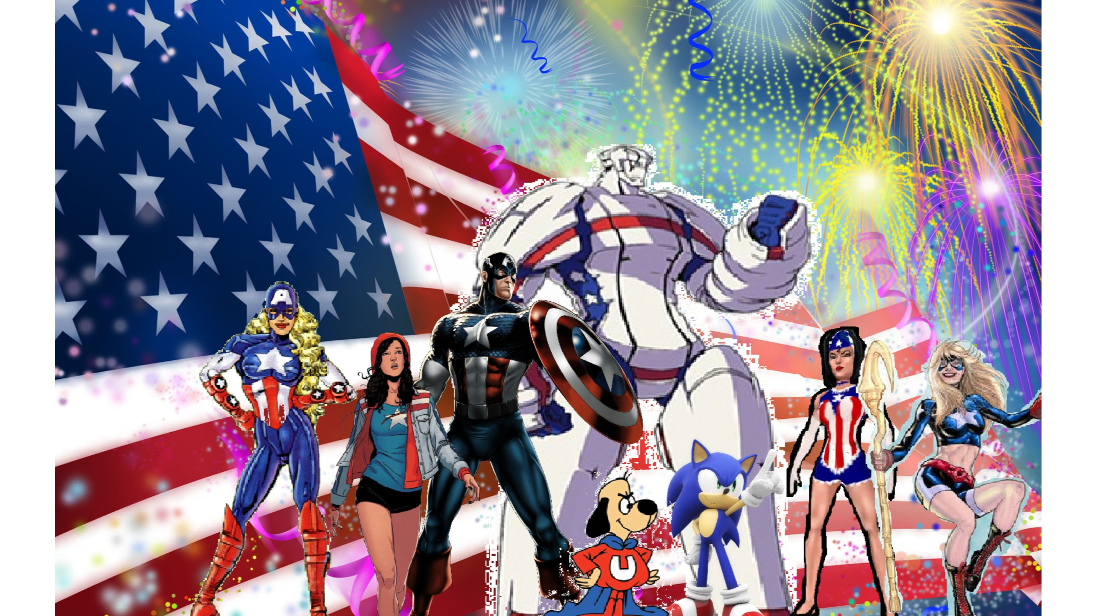 3840x2160 cartoons happy 4th of july 4k wallpaper