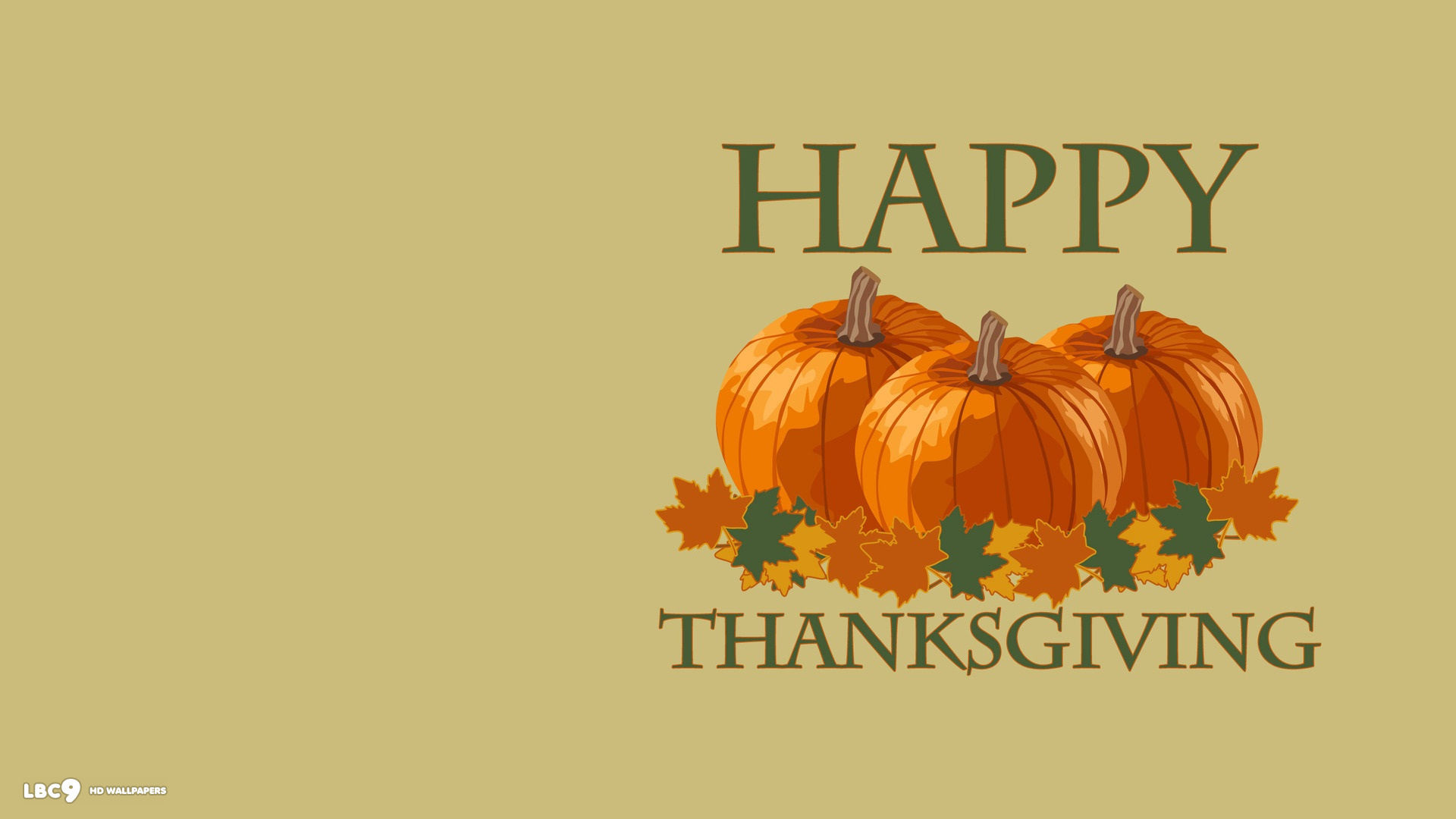 1920x1080 happy thanksgiving three pumpkins simple holiday desktop background